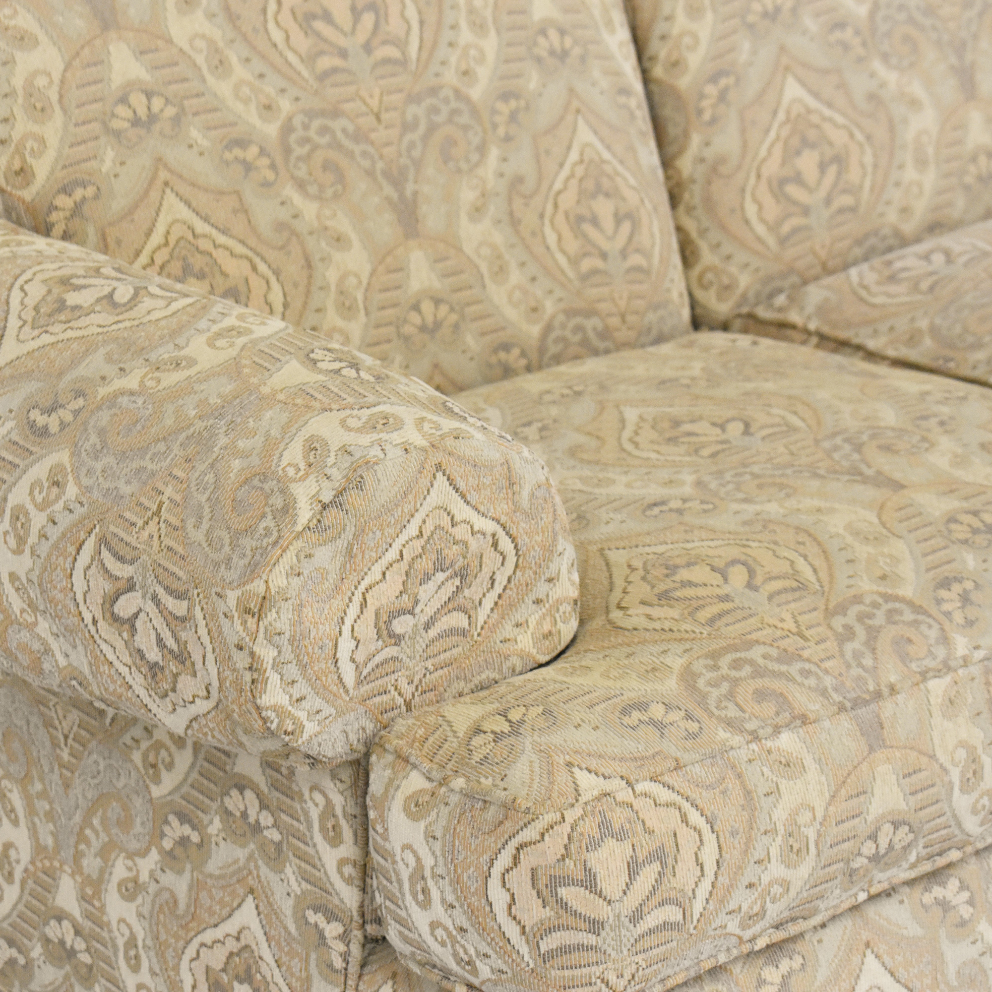 Ethan Allen Ethan Allen Patterned Roll Arm Sofa used