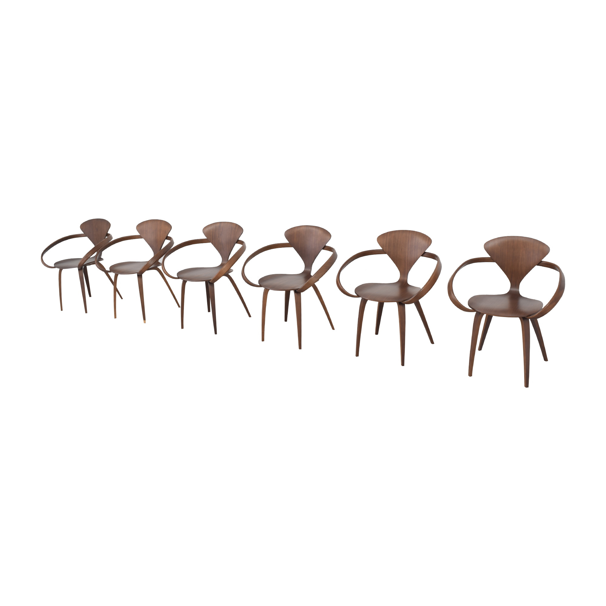 Design Within Reach Design Within Reach Cherner Dining Arm Chairs brown