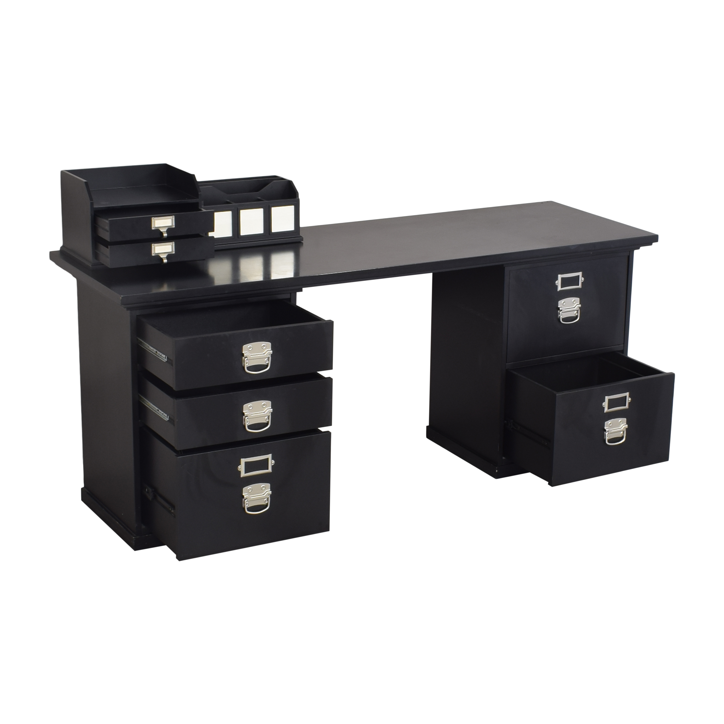 Pottery Barn Bedford Desk with Caddies sale
