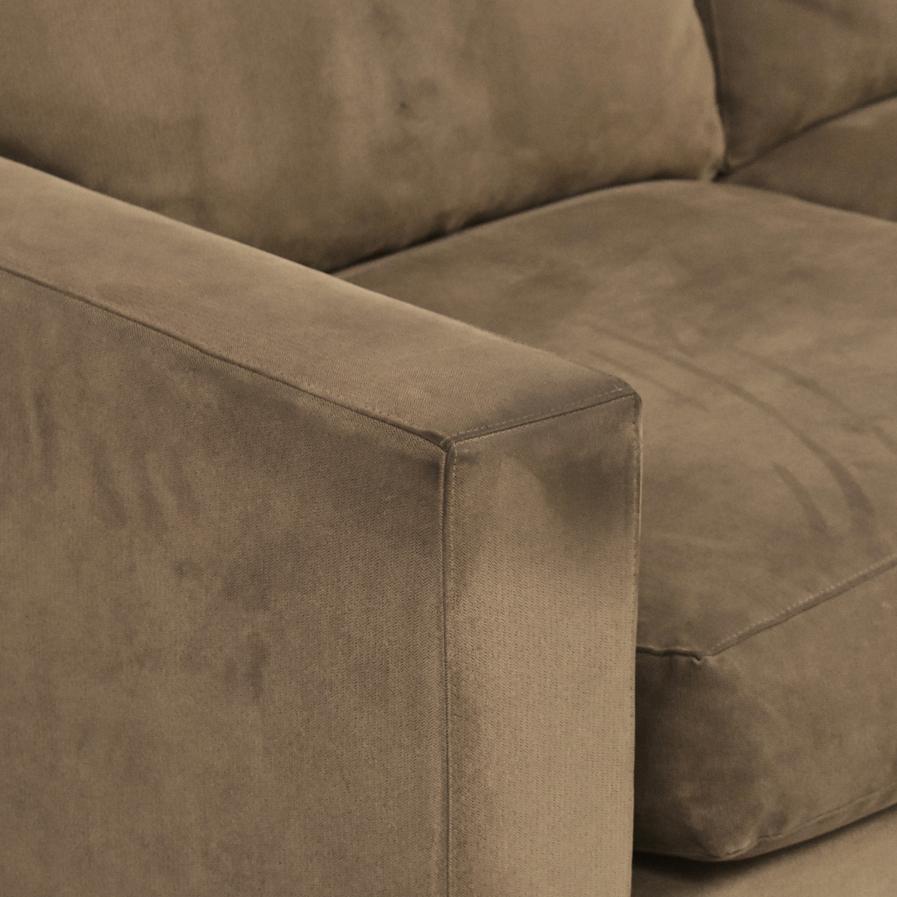 buy Crate & Barrel Axis II Chaise Sectional Sofa Crate & Barrel Sectionals