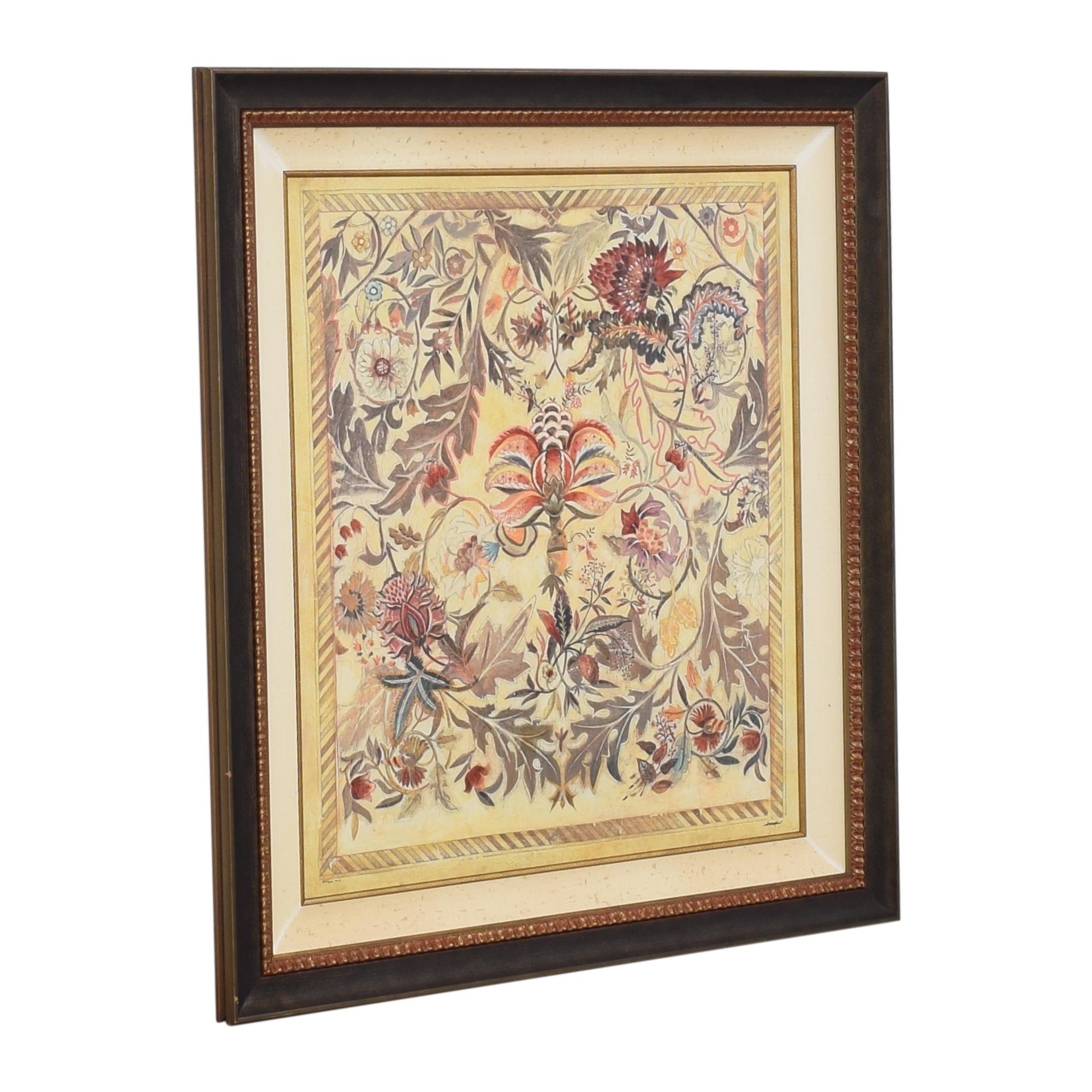 Ethan Allen Garden Song Framed Wall Art sale