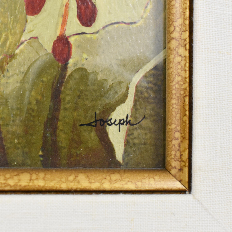 Ethan Allen Ethan Allen Red Flowers IV Framed Wall Art pa