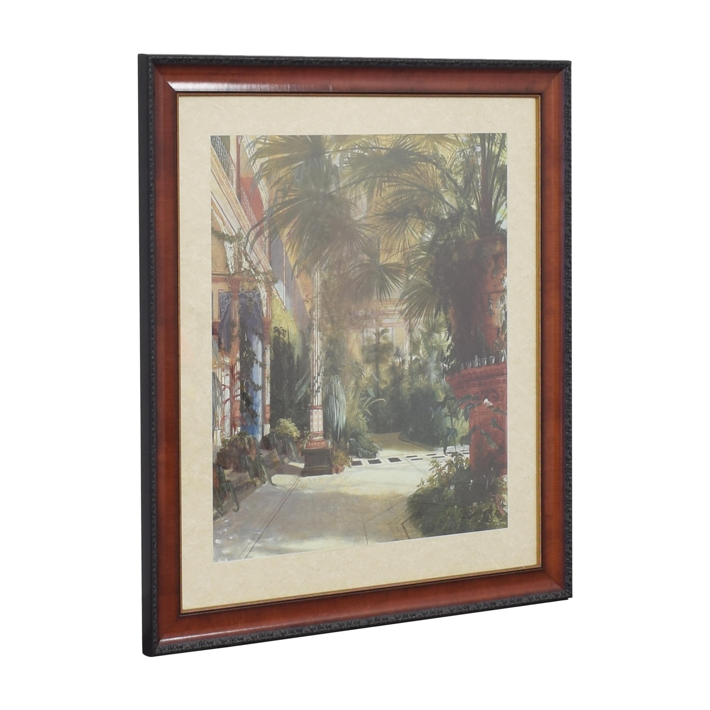 Ethan Allen The Palm House Framed Wall Art / Decor