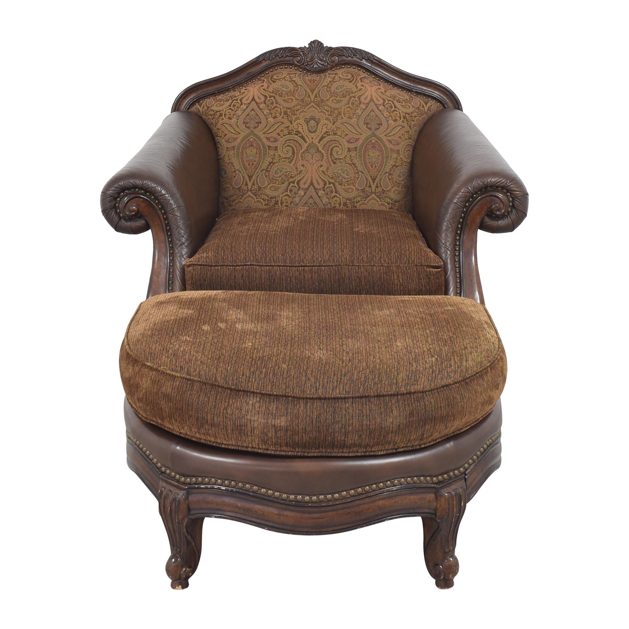 Raymour & Flanigan Raymour & Flanigan Natalia Chair with Ottoman dimensions