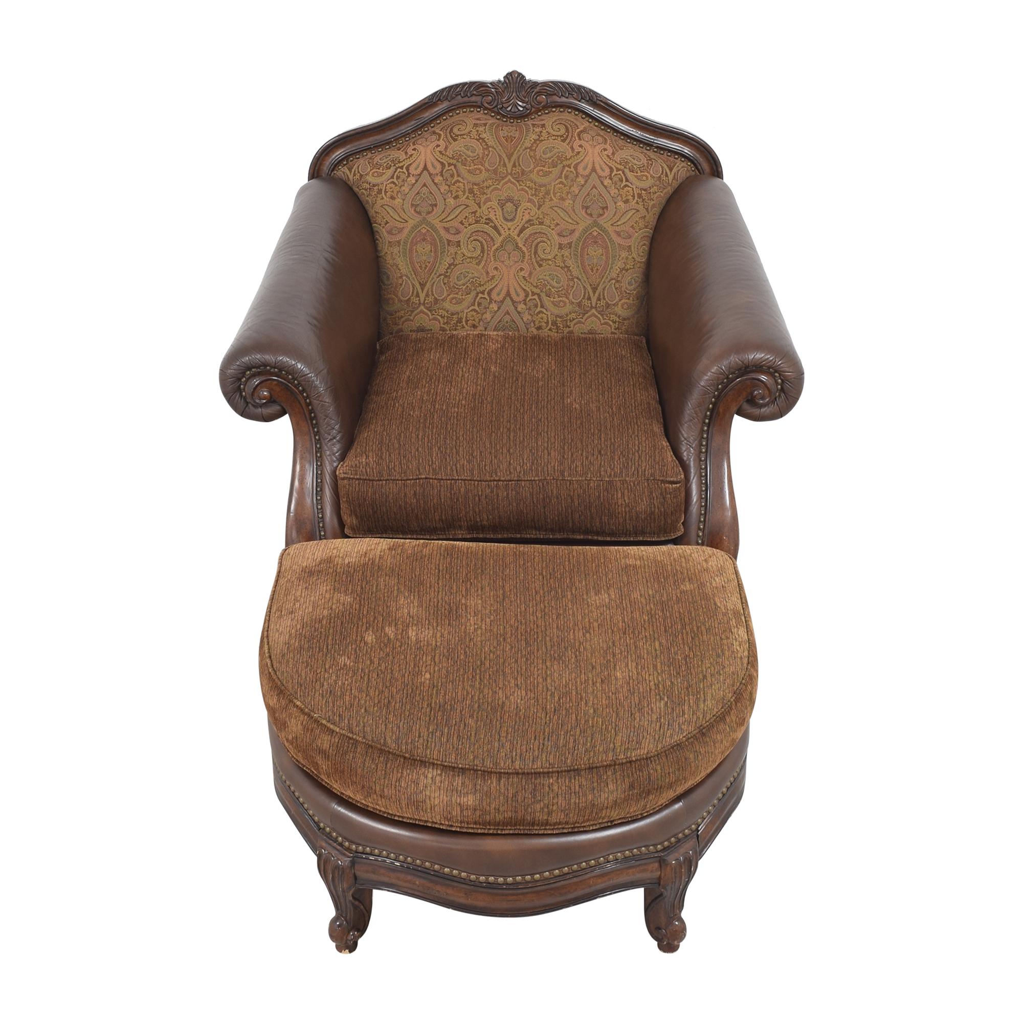 buy Raymour & Flanigan Raymour & Flanigan Natalia Chair with Ottoman online