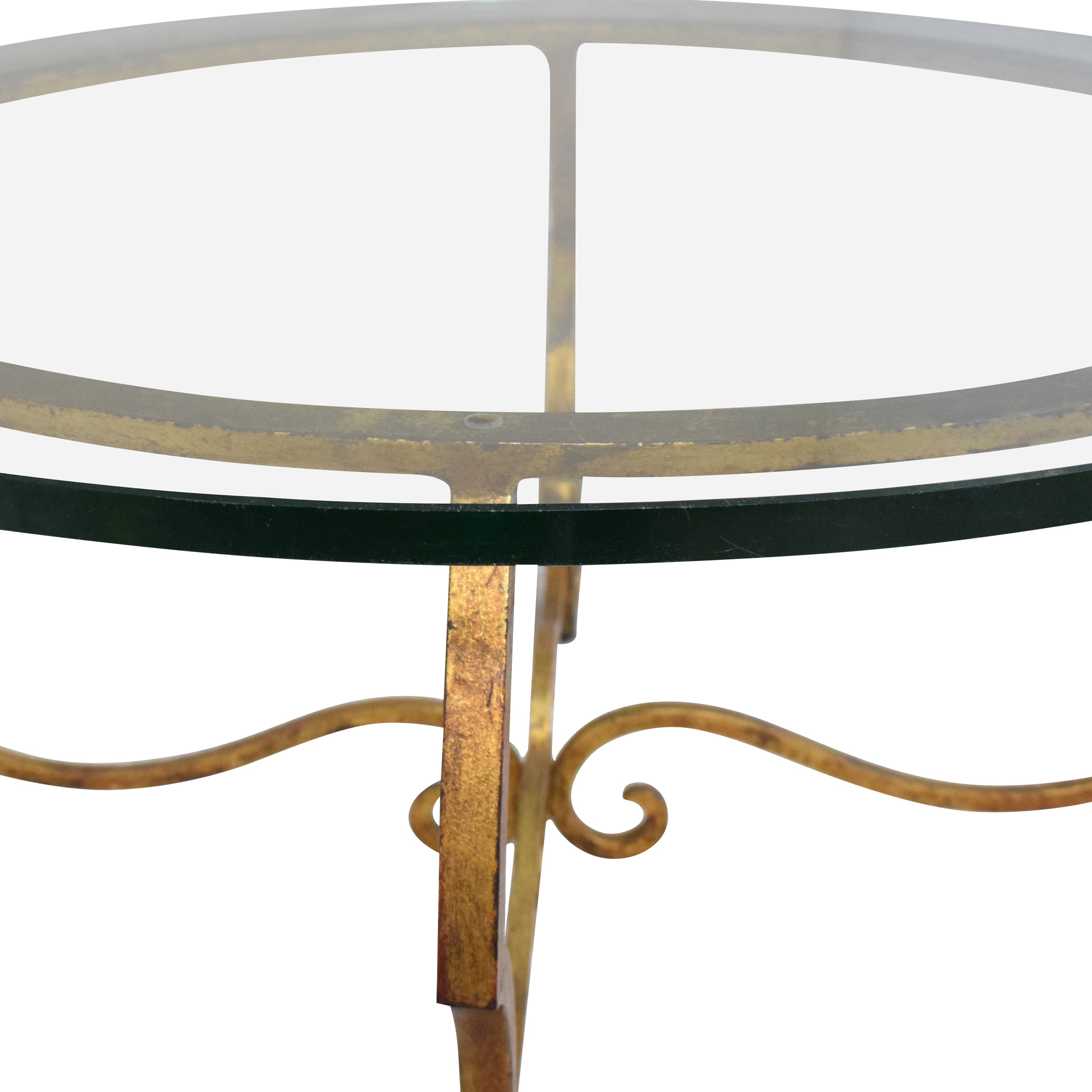 Round Top Coffee Table gold