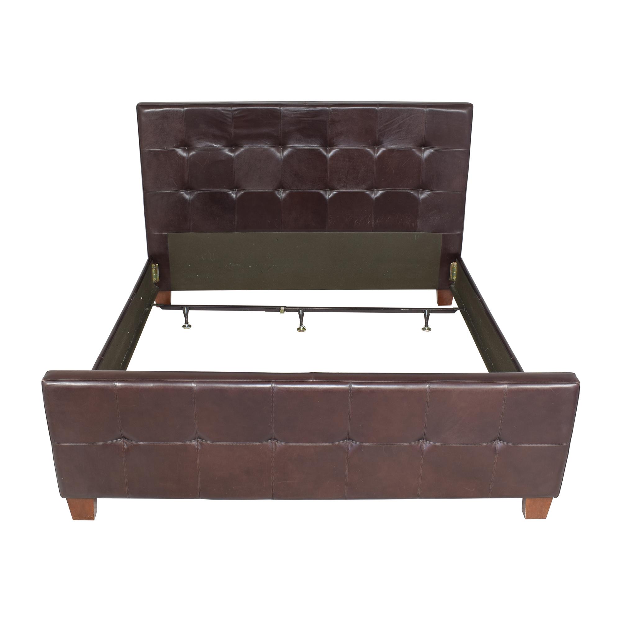 Crate & Barrel Tufted King Bed Crate & Barrel