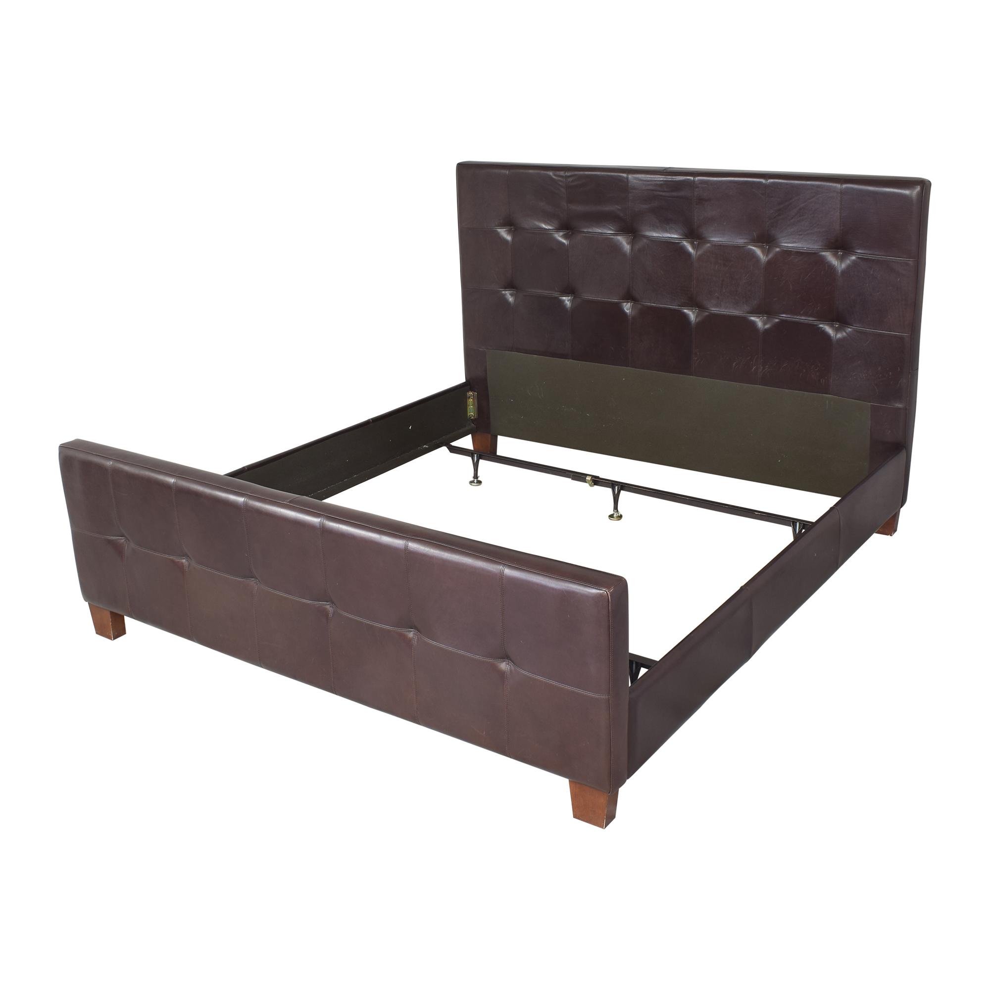 buy Crate & Barrel Tufted King Bed Crate & Barrel Beds