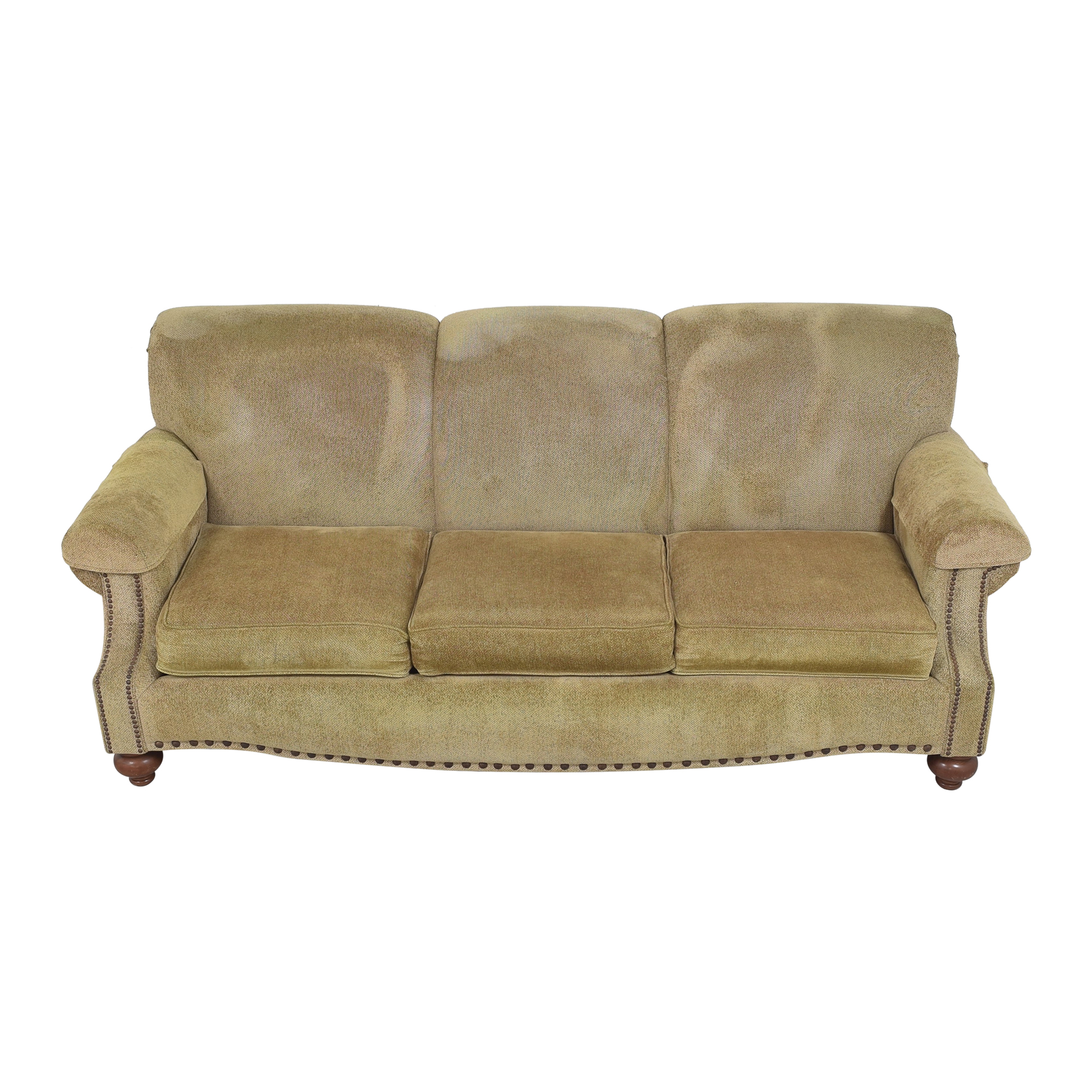 Bassett Furniture Bassett Furniture Three Cushion Nailhead Sofa on sale