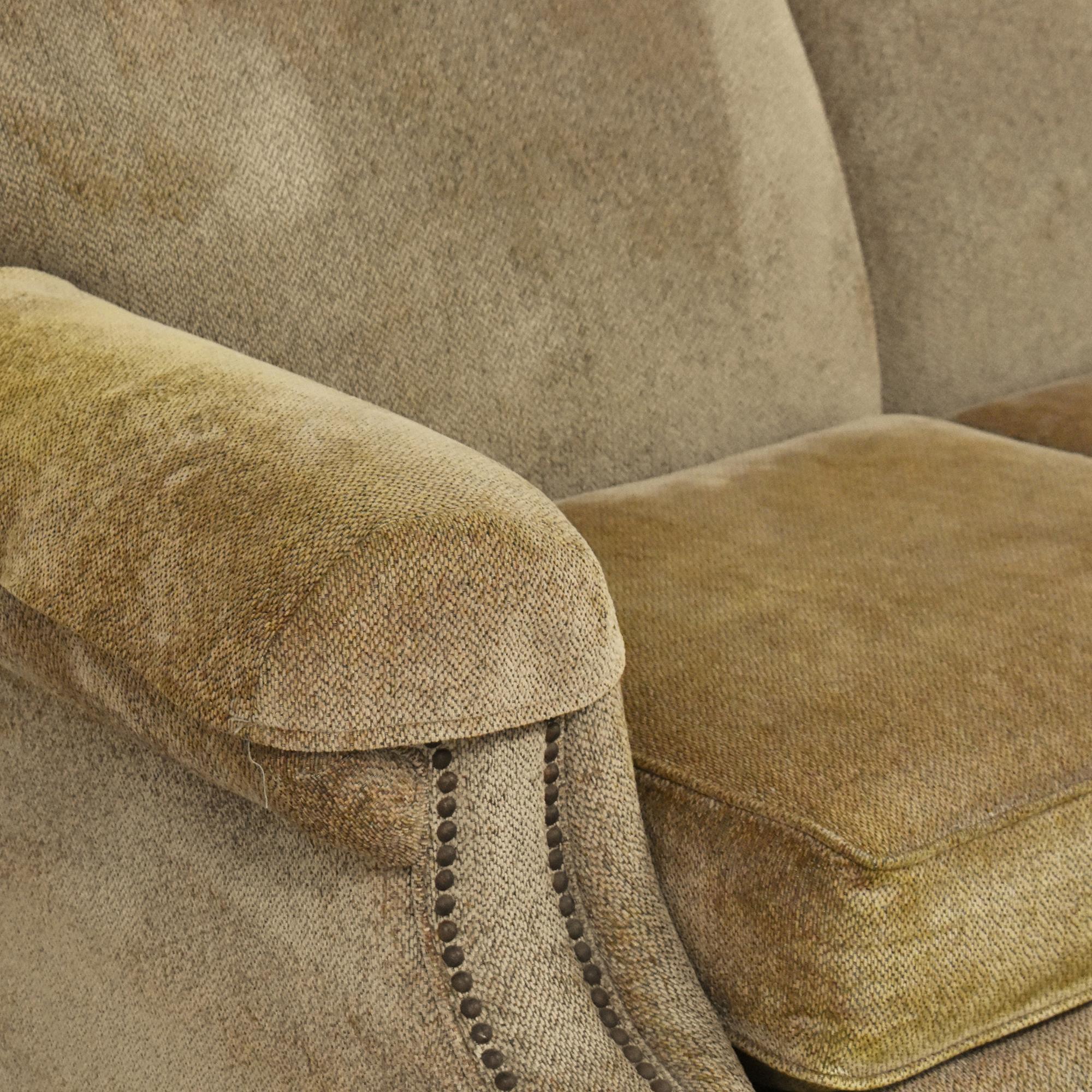 buy Bassett Furniture Three Cushion Nailhead Sofa Bassett Furniture