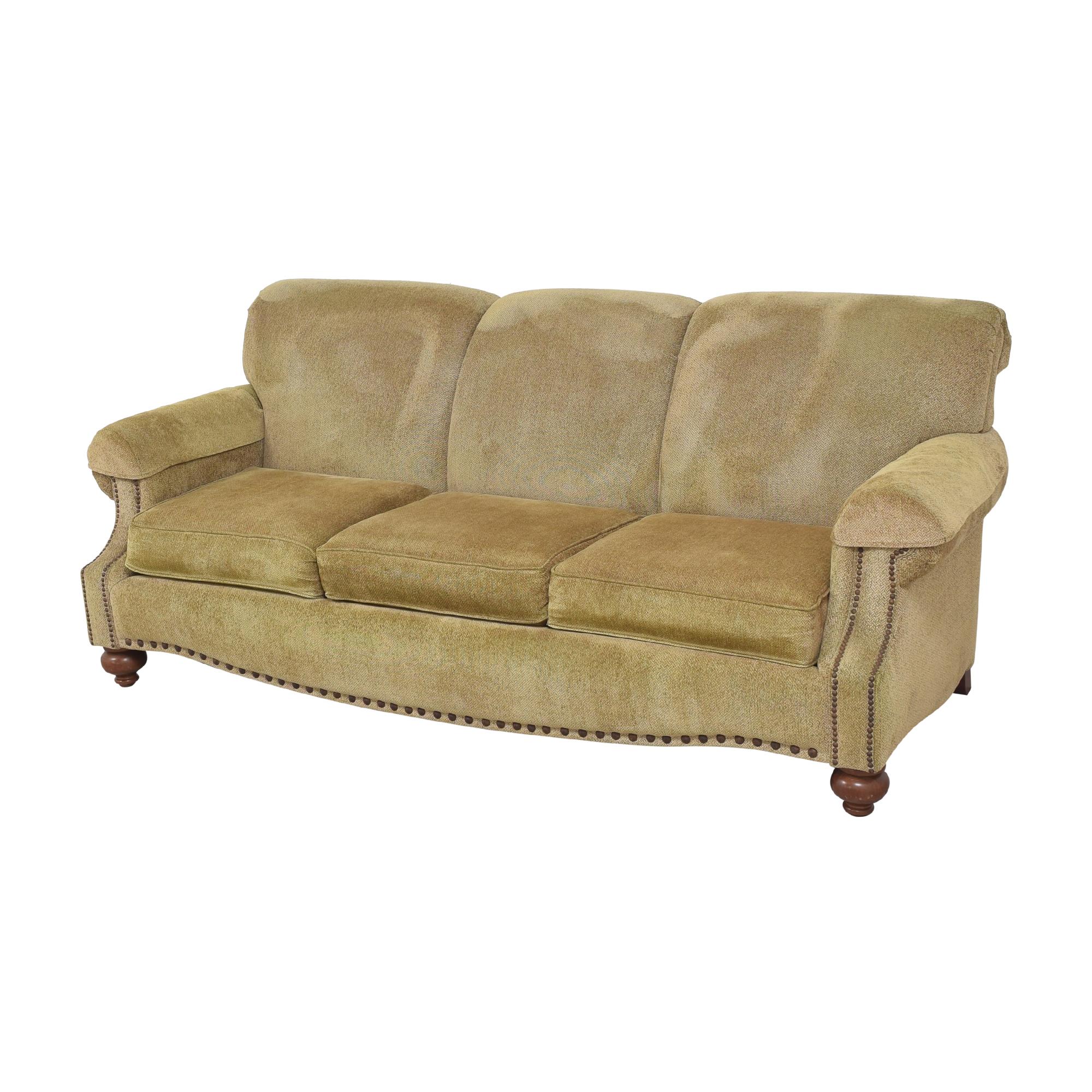 Bassett Furniture Bassett Furniture Three Cushion Nailhead Sofa coupon