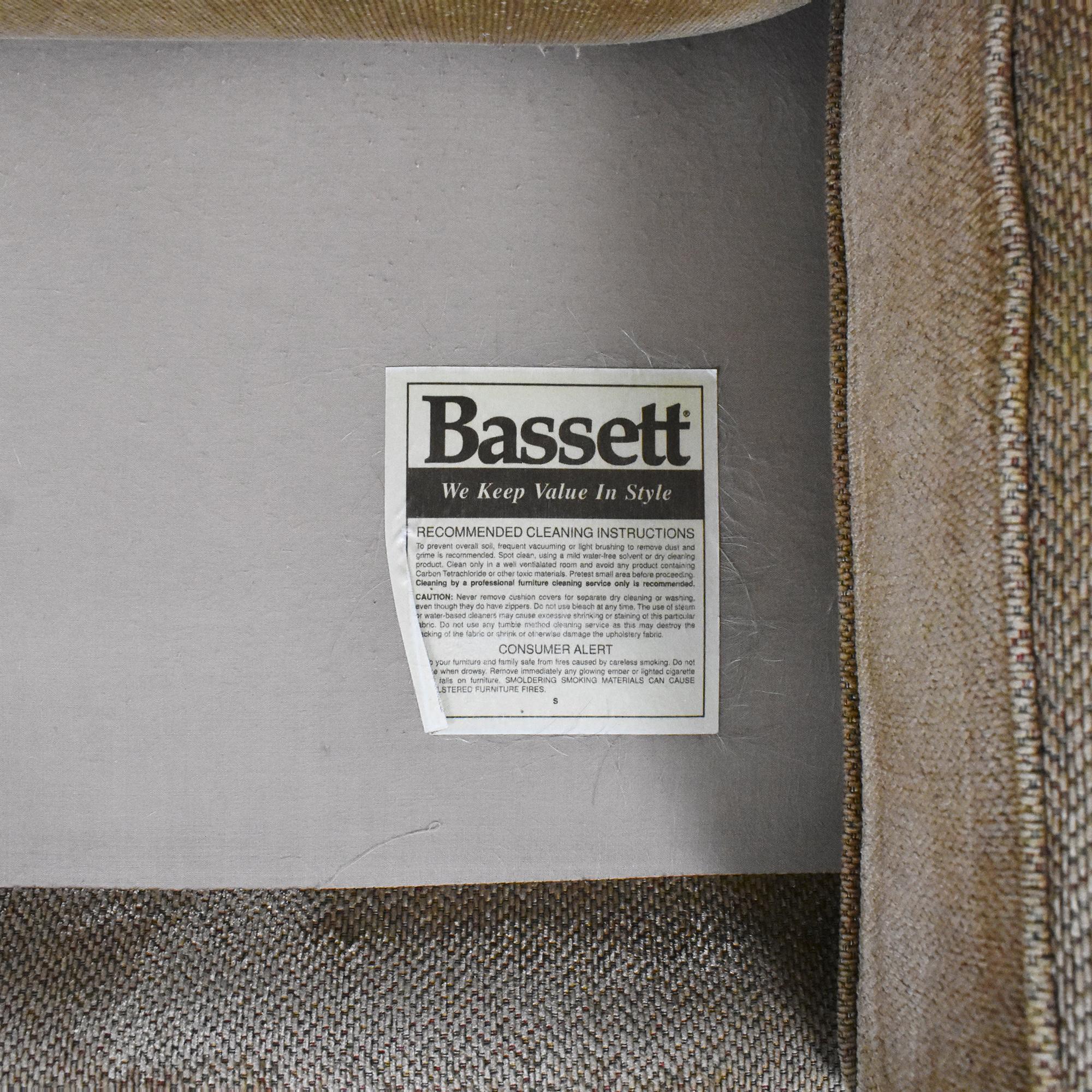 Bassett Furniture Bassett Furniture Three Cushion Nailhead Sofa ct