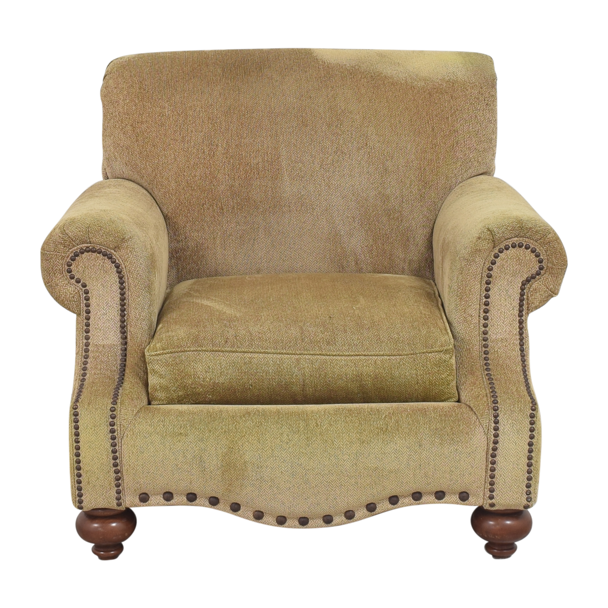 Bassett Furniture Roll Arm Nailhead Chair Bassett Furniture
