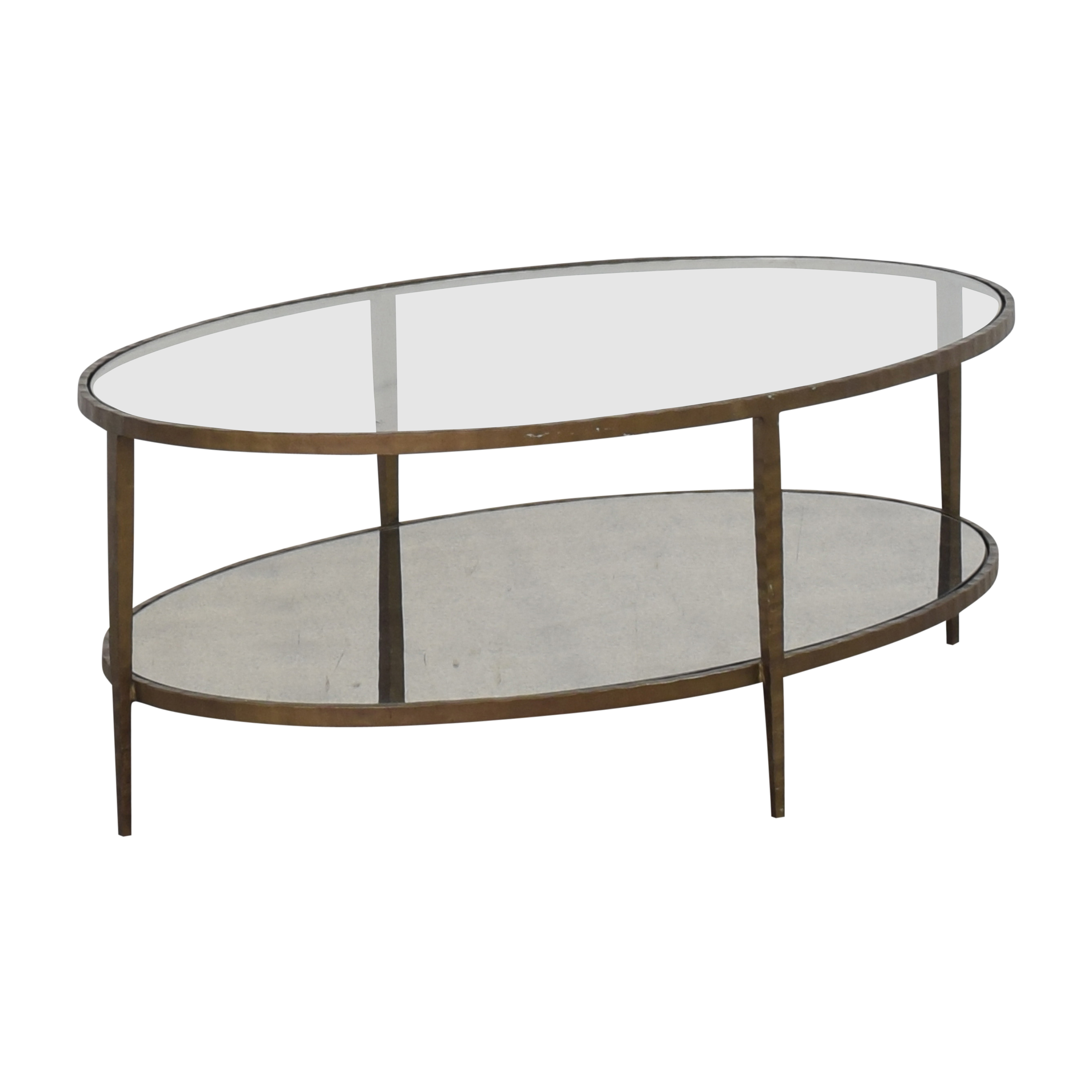 Crate & Barrel Clairemont Oval Coffee Table / Tables