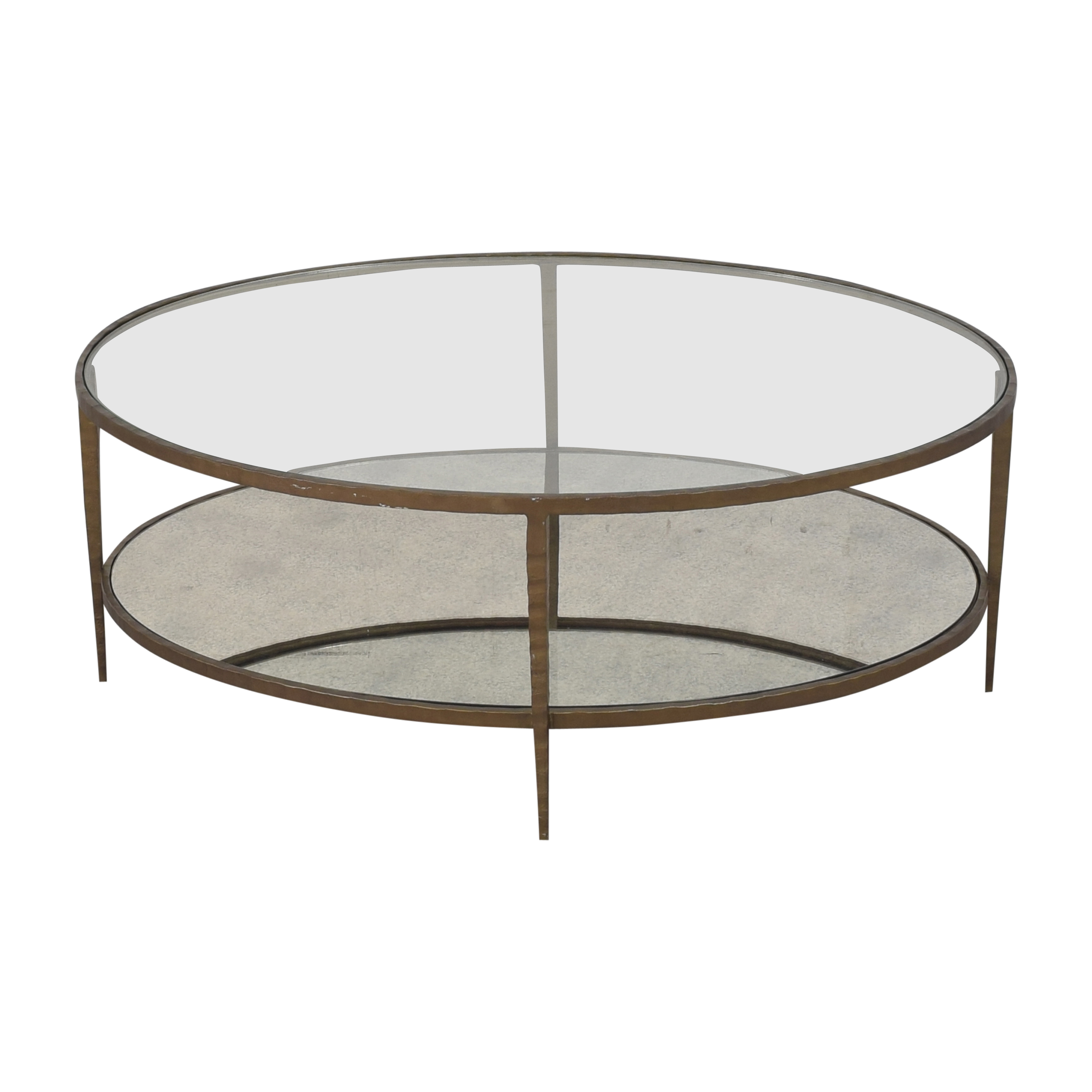 shop Crate & Barrel Clairemont Oval Coffee Table Crate & Barrel Coffee Tables