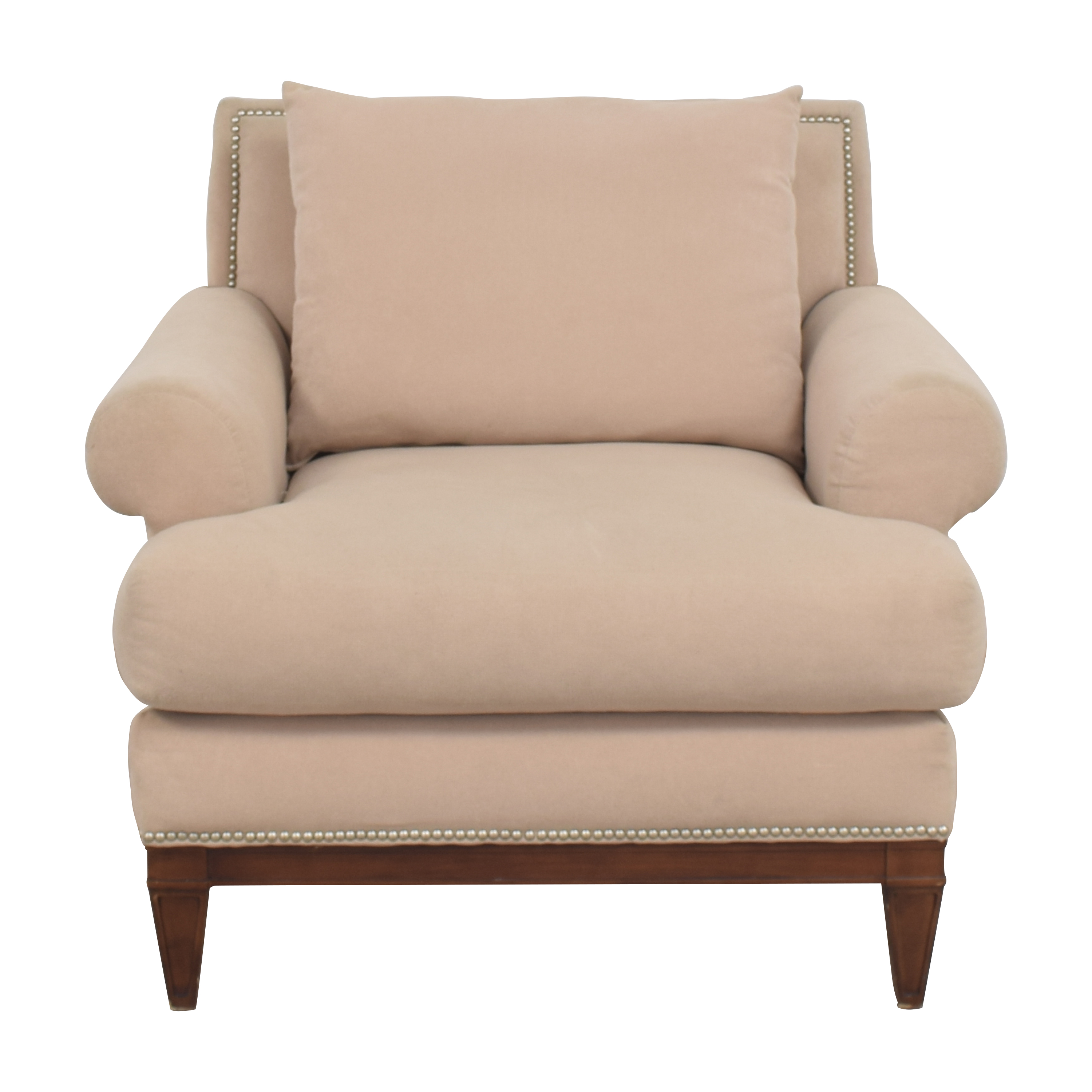 shop Bloomingdale's Roll Arm Accent Chair Bloomingdale's Accent Chairs