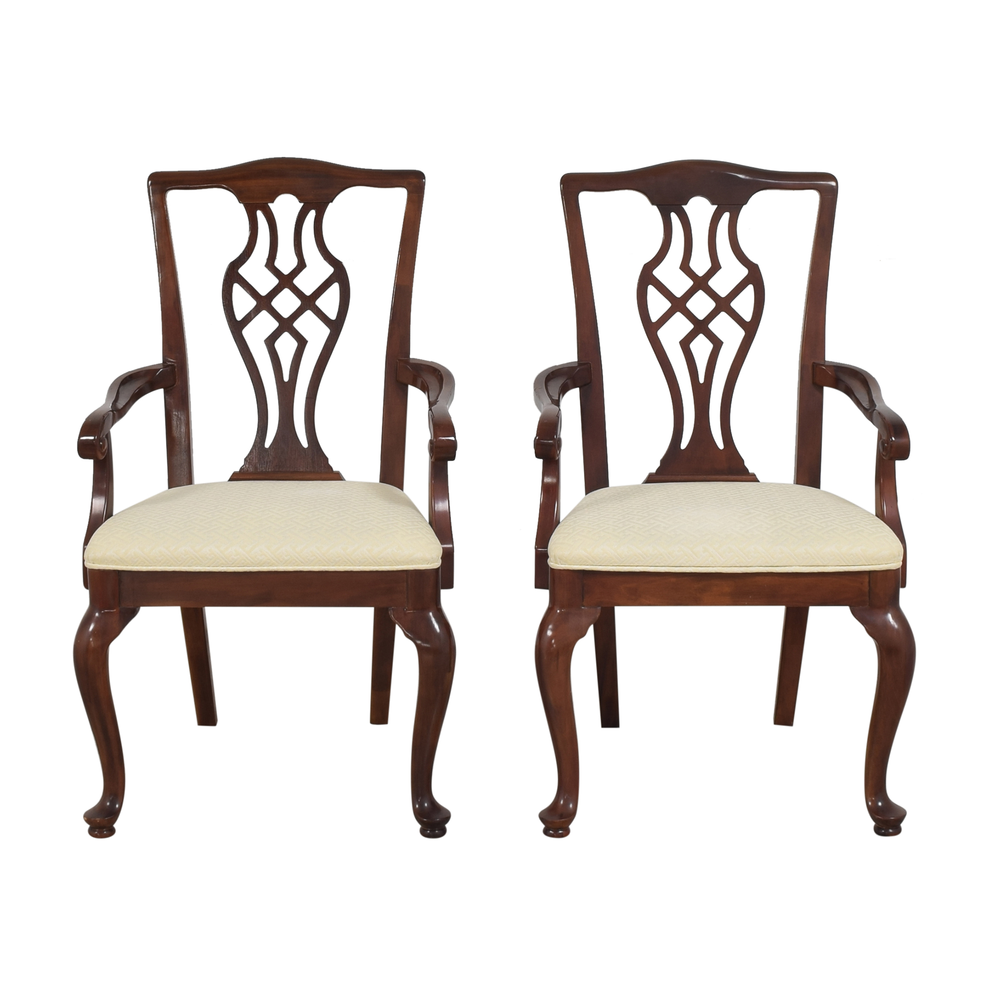 Drexel Heritage Drexel Heritage Chippendale Dining Arm Chairs ct