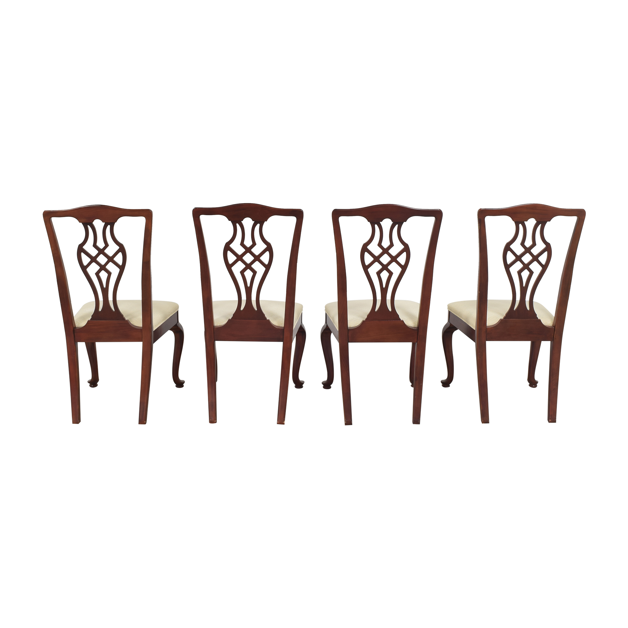 Drexel Heritage Drexel Heritage Chippendale Dining Chairs off white and brown