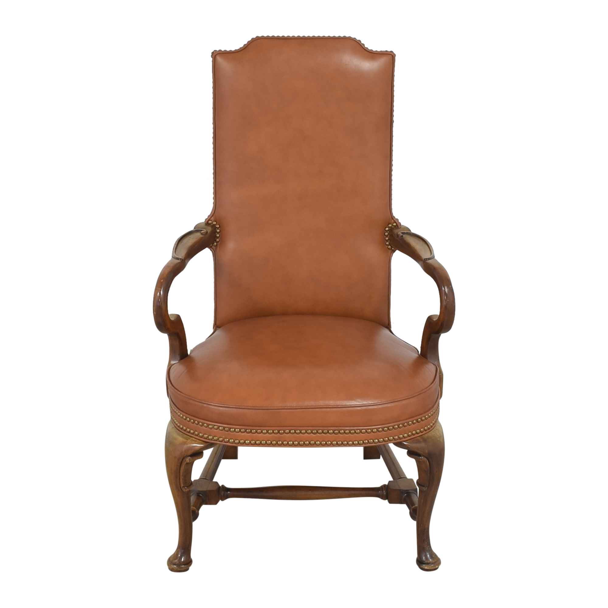 Century Chair Company Century Chair Company High Back Arm Chair brown