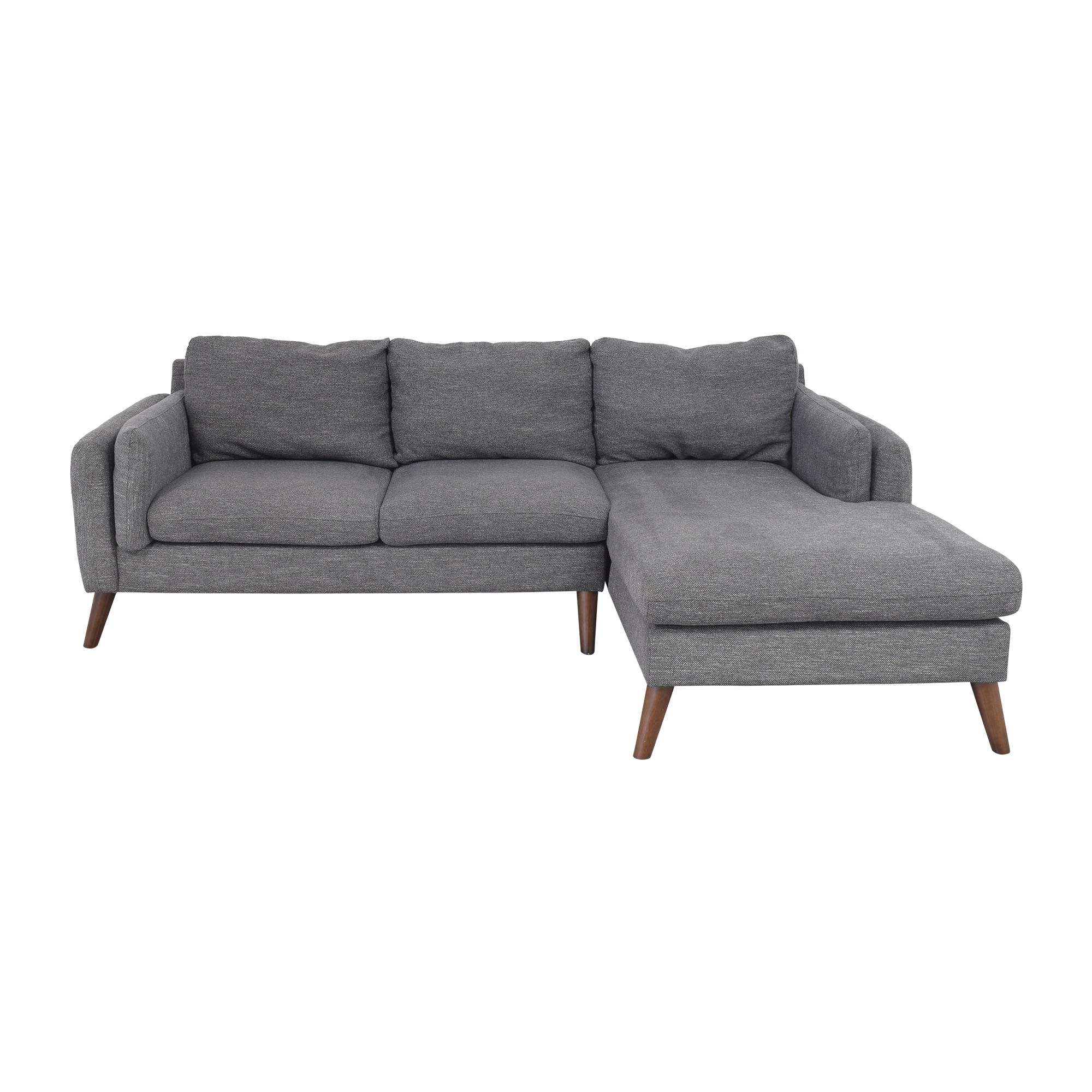 Wayfair Wayfair Jordana Right Hand Facing Sectional Sofa with Chaise price