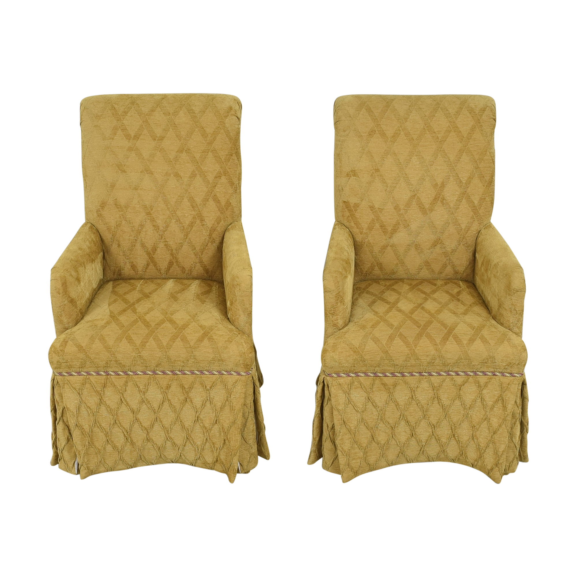 Charles Stewart Company Charles Stewart Company Skirted Dining Arm Chairs ma