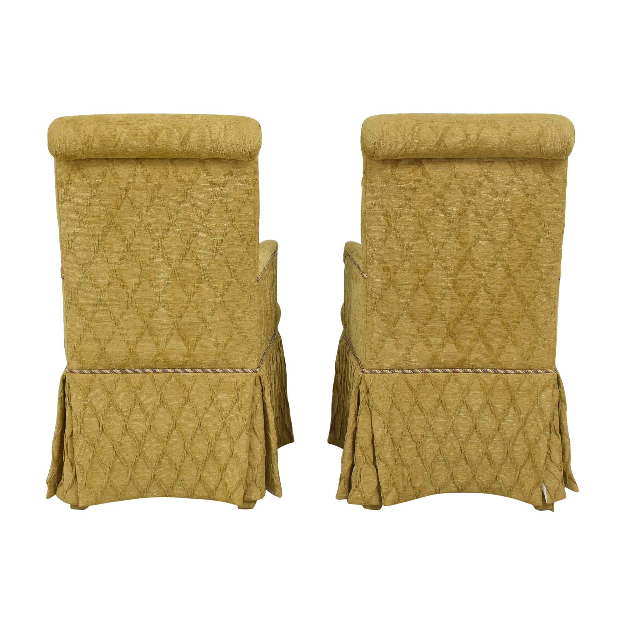 Charles Stewart Company Charles Stewart Company Skirted Dining Arm Chairs on sale