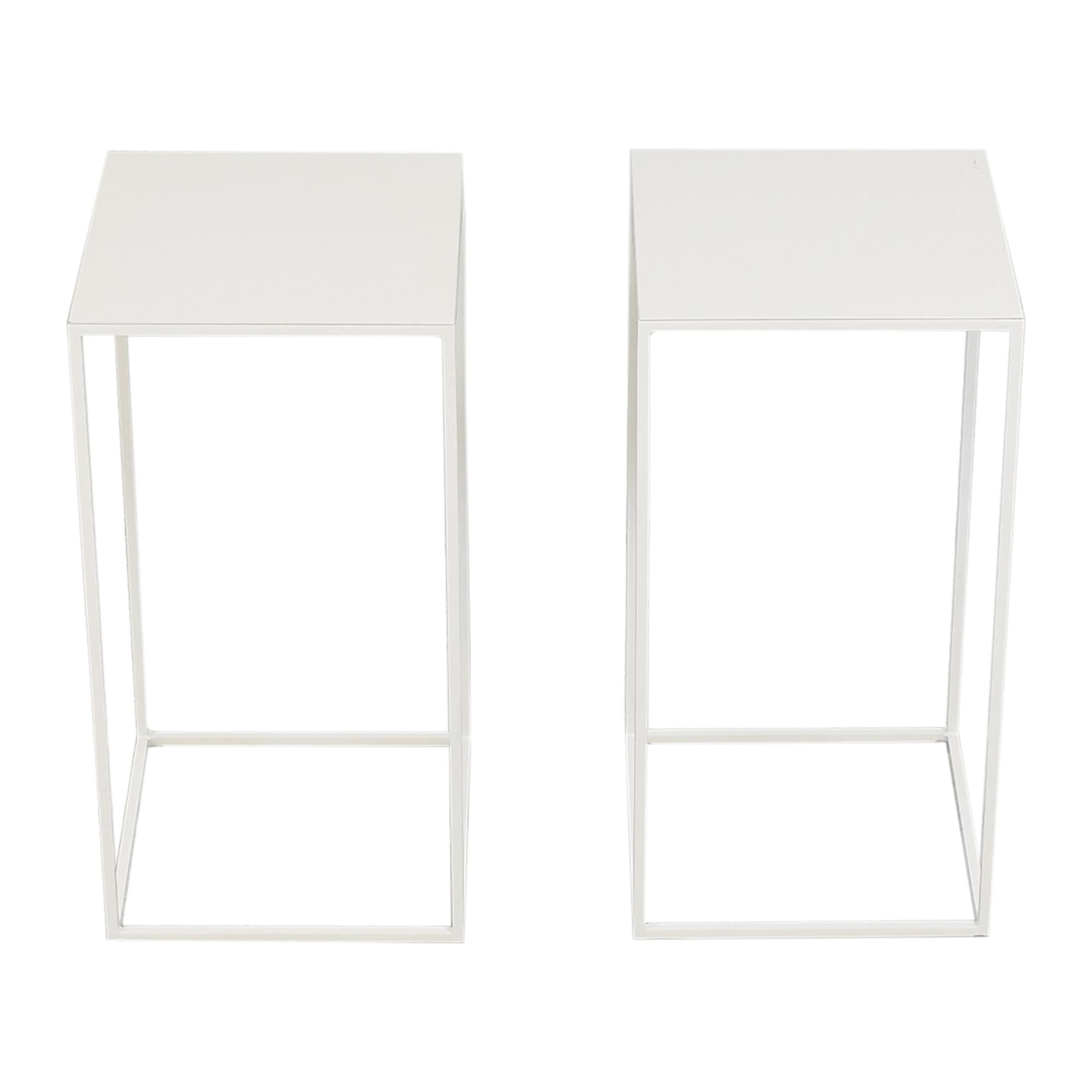 ABC Carpet & Home ABC Carpet & Home Box Frame Side Tables white