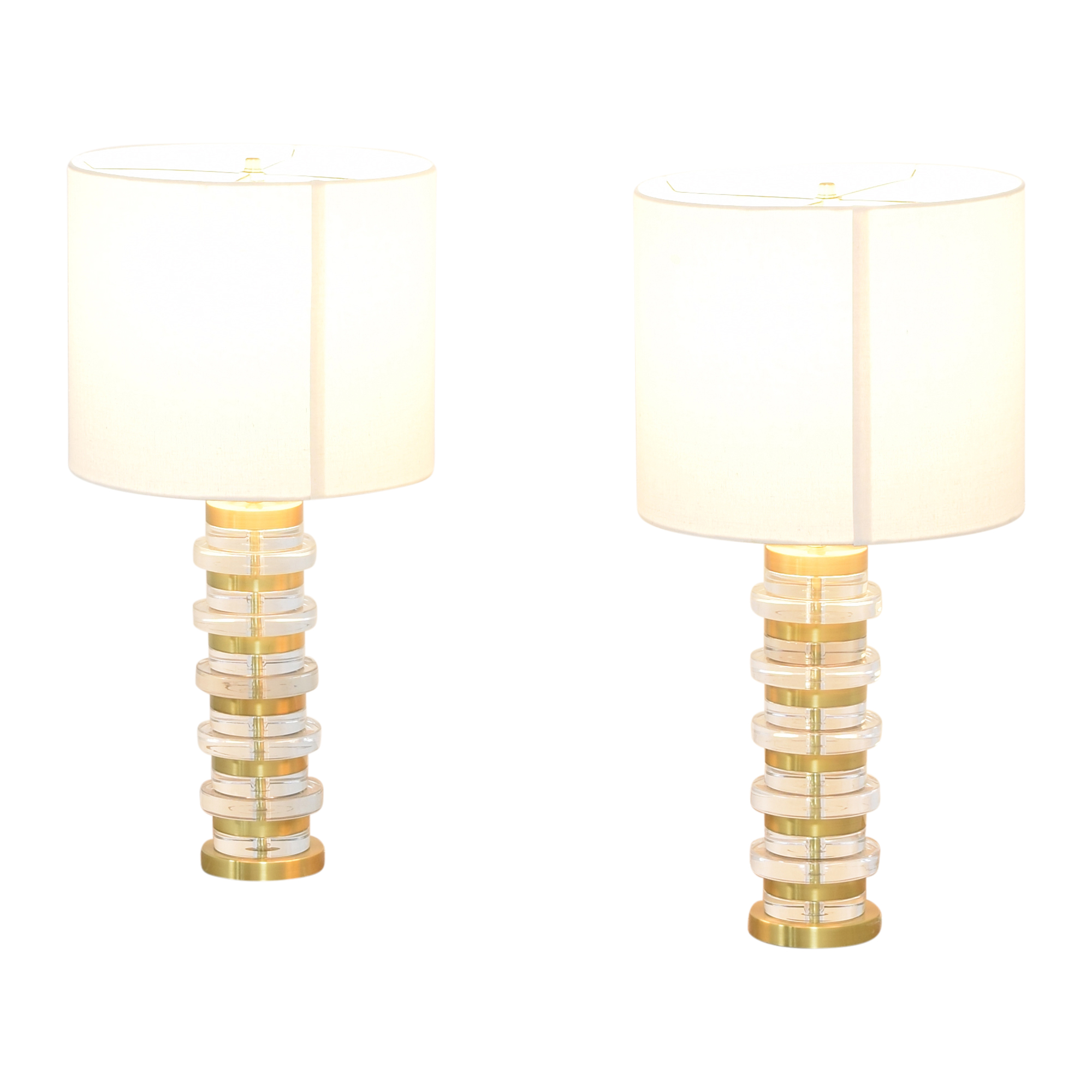 West Elm West Elm Clear Disk Table Lamps pa
