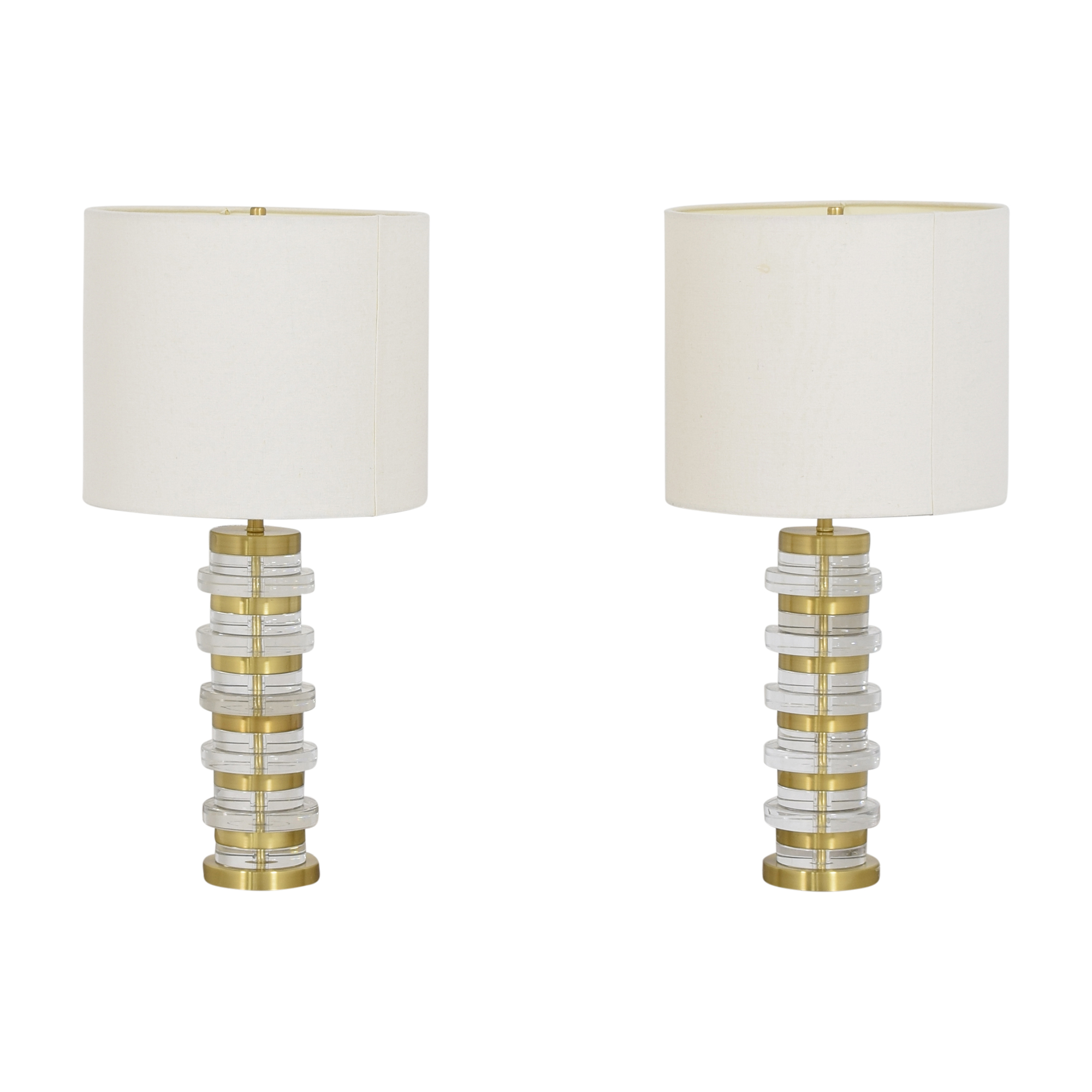 West Elm West Elm Clear Disk Table Lamps nyc