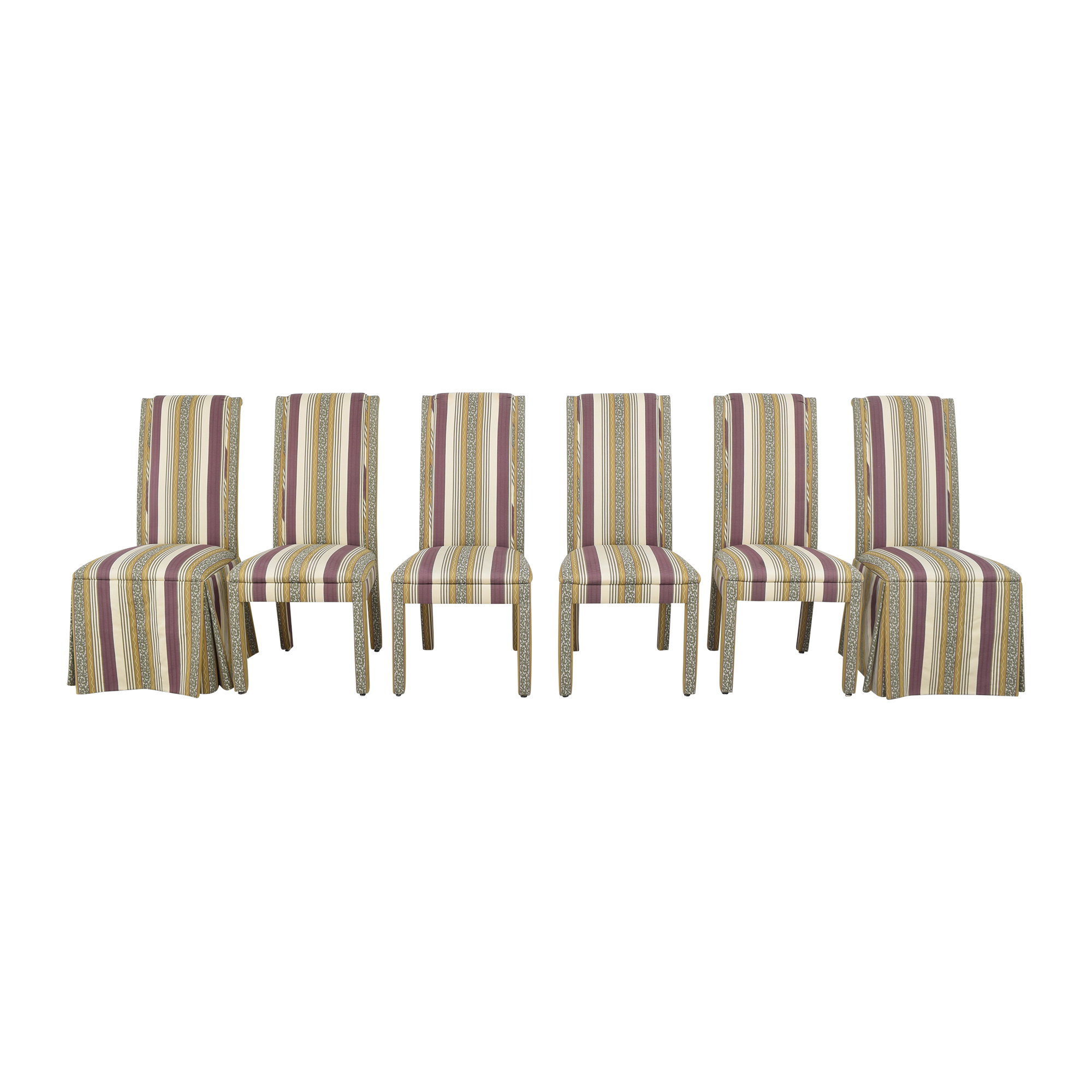 Stripe Upholstered Dining Chairs ct