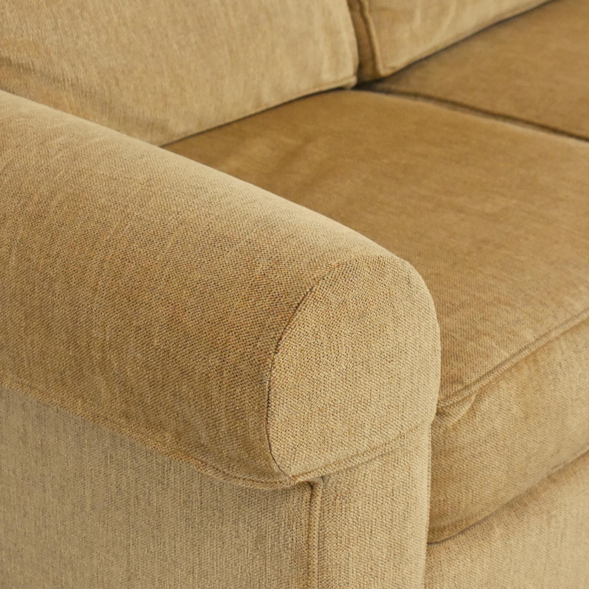 shop Ethan Allen Retreat Roll-Arm Three-Piece Sectional Sofa Ethan Allen