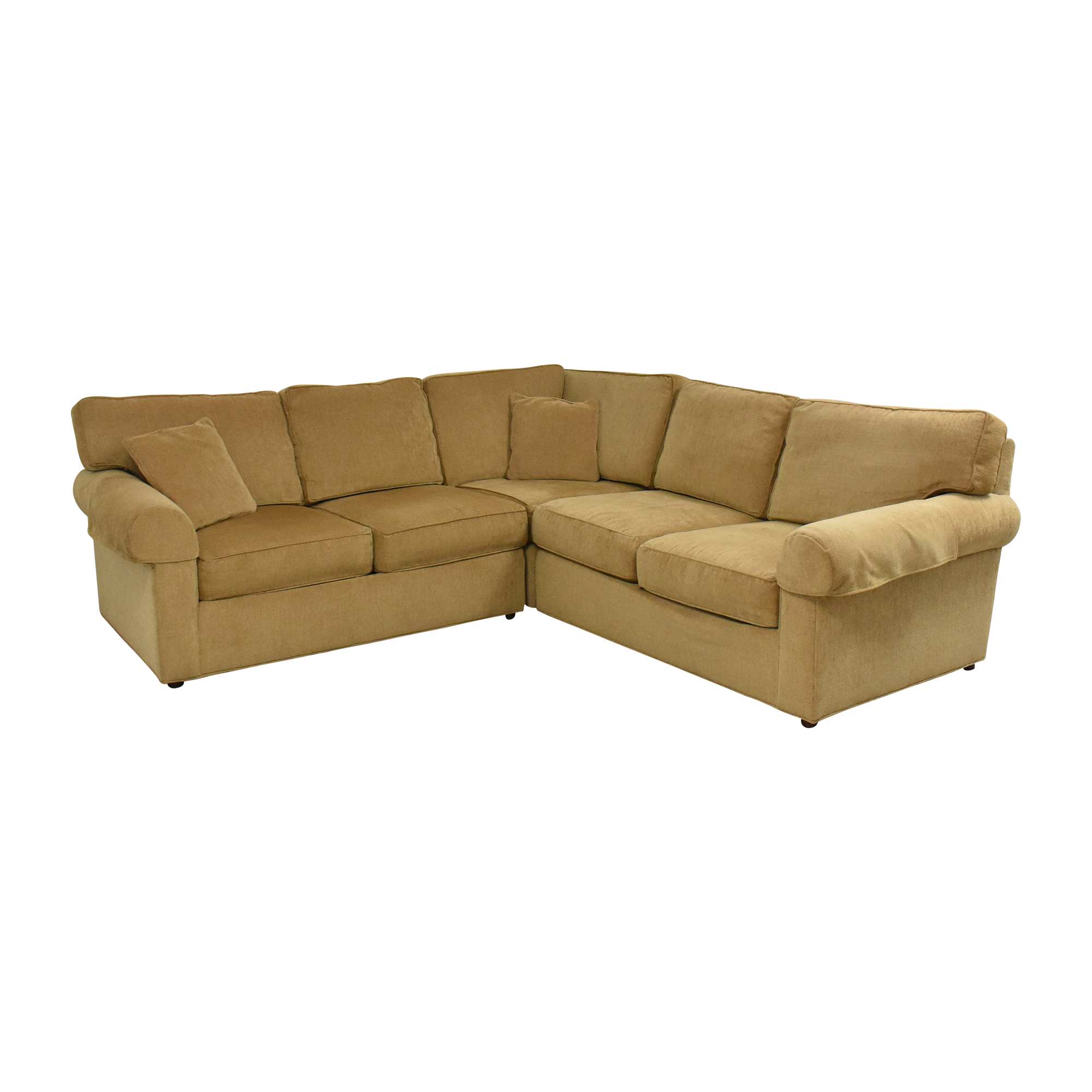 Ethan Allen Ethan Allen Retreat Roll-Arm Three-Piece Sectional Sofa nj