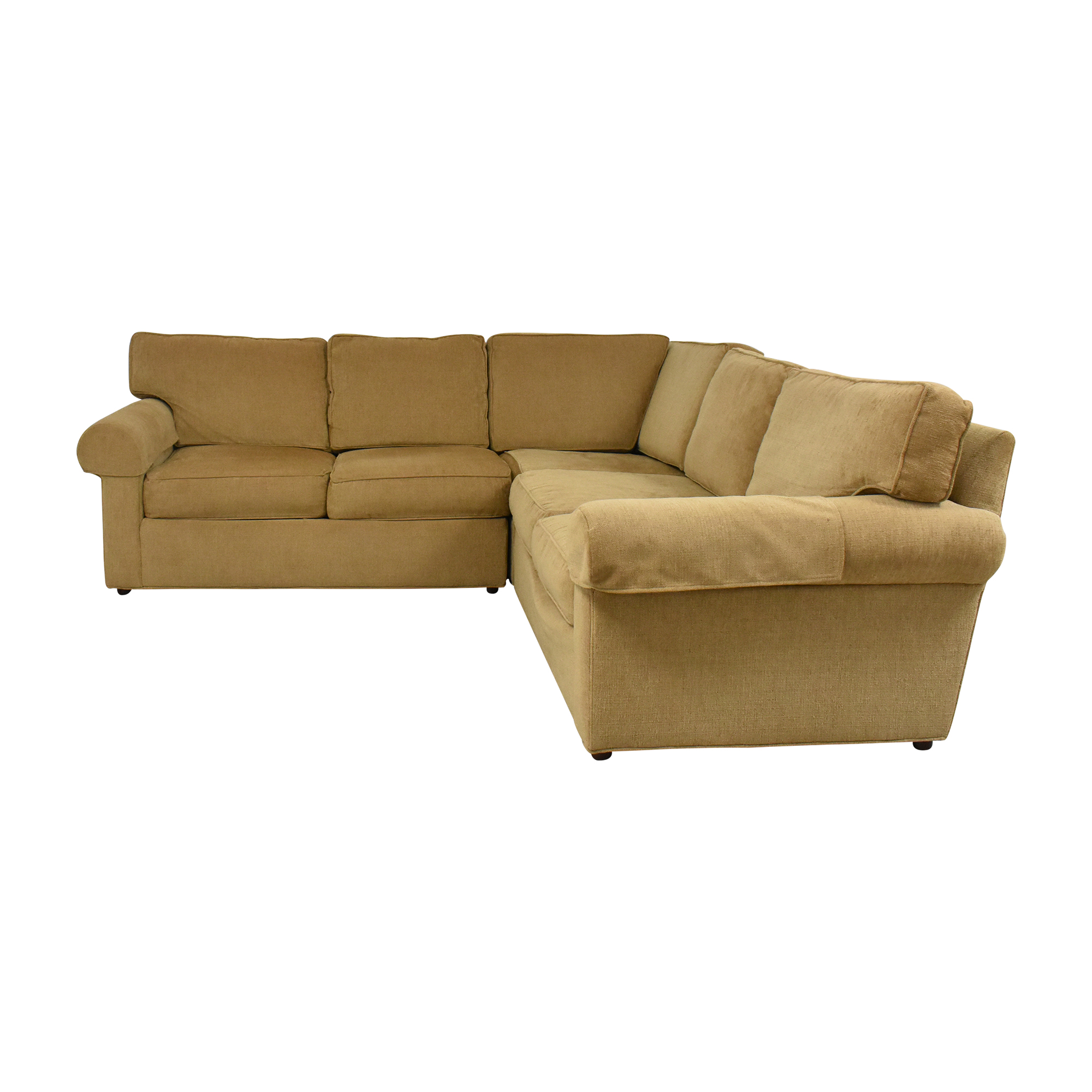 shop Ethan Allen Retreat Roll-Arm Three-Piece Sectional Sofa Ethan Allen Sofas