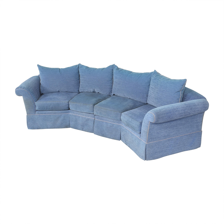 shop Swaim Swaim Curved Sectional Sofa online