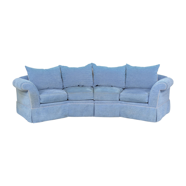Swaim Swaim Curved Sectional Sofa dimensions