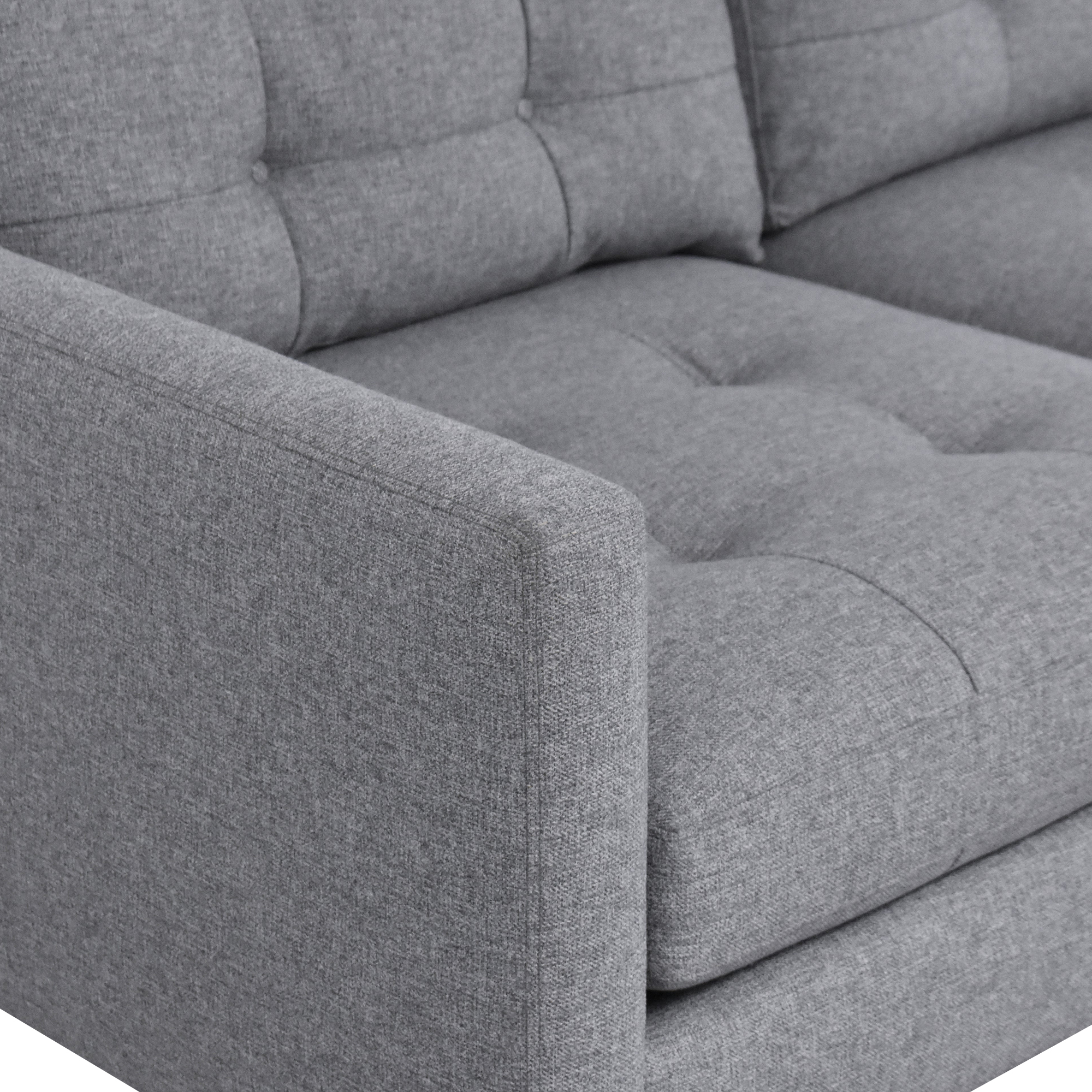 Crate & Barrel Crate & Barrel Petrie Two Piece Chaise Midcentury Sectional Sofa Sofas