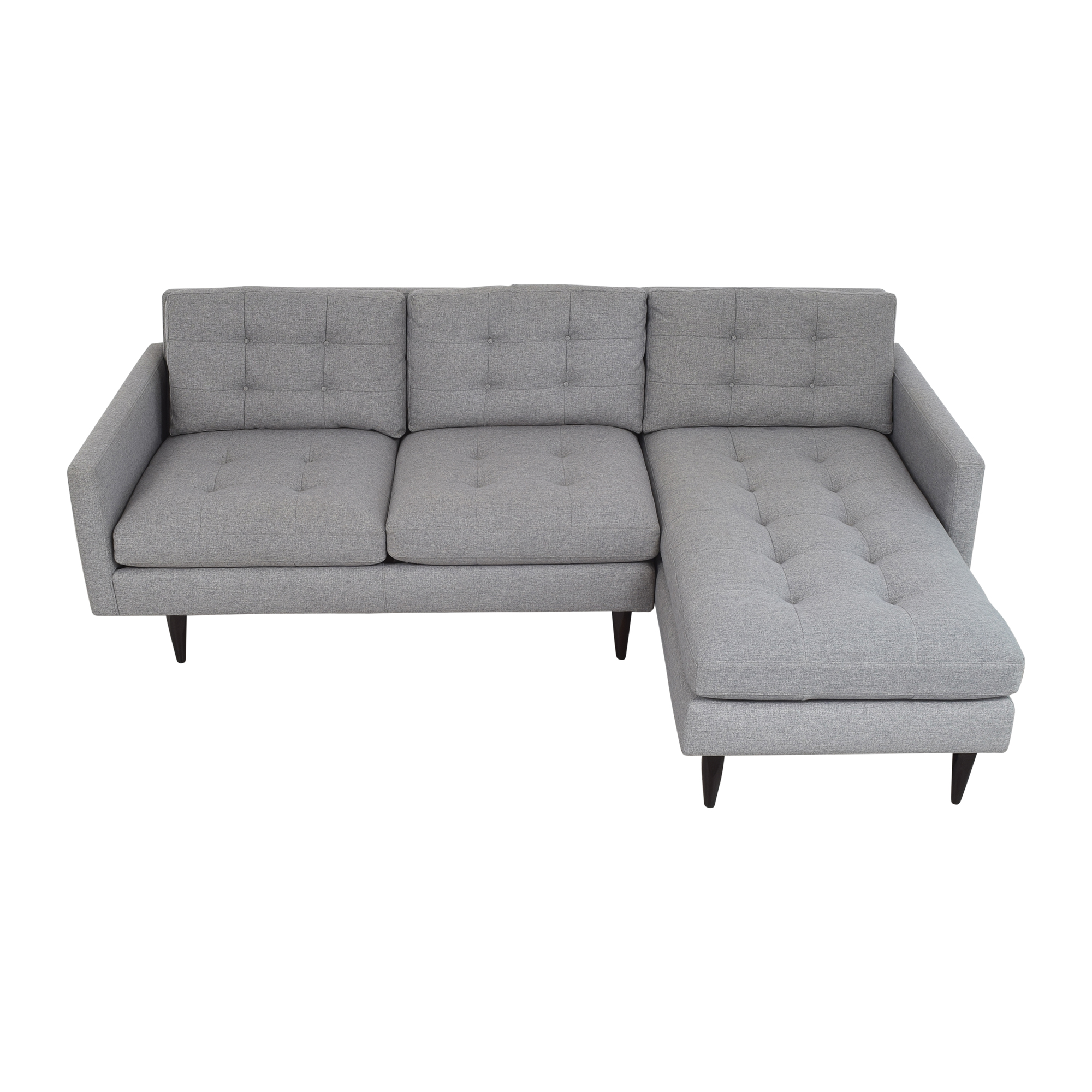 shop Crate & Barrel Crate & Barrel Petrie Two Piece Chaise Midcentury Sectional Sofa online