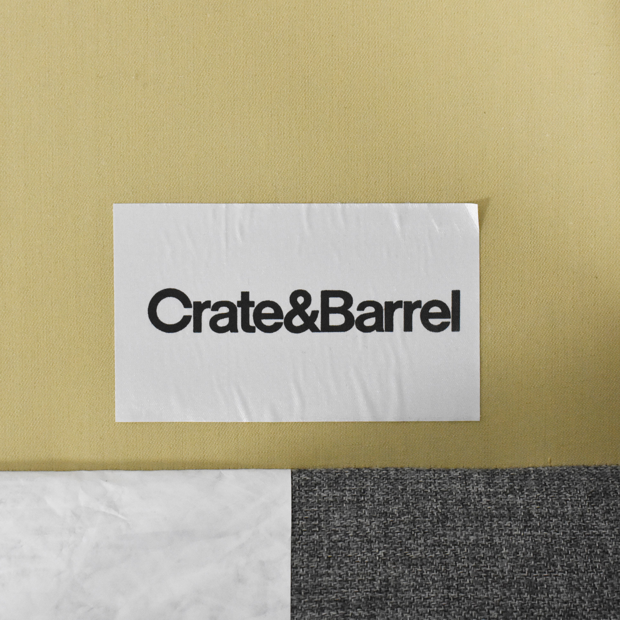 buy Crate & Barrel Petrie Two Piece Chaise Midcentury Sectional Sofa Crate & Barrel Sofas