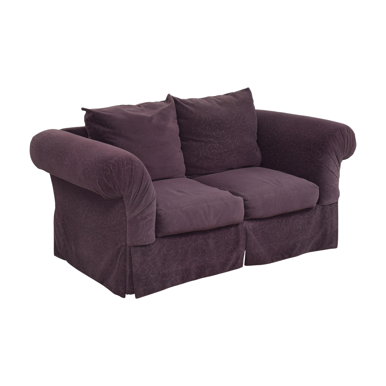 Rowe Furniture Rowe Furniture Roll Arm Loveseat dimensions