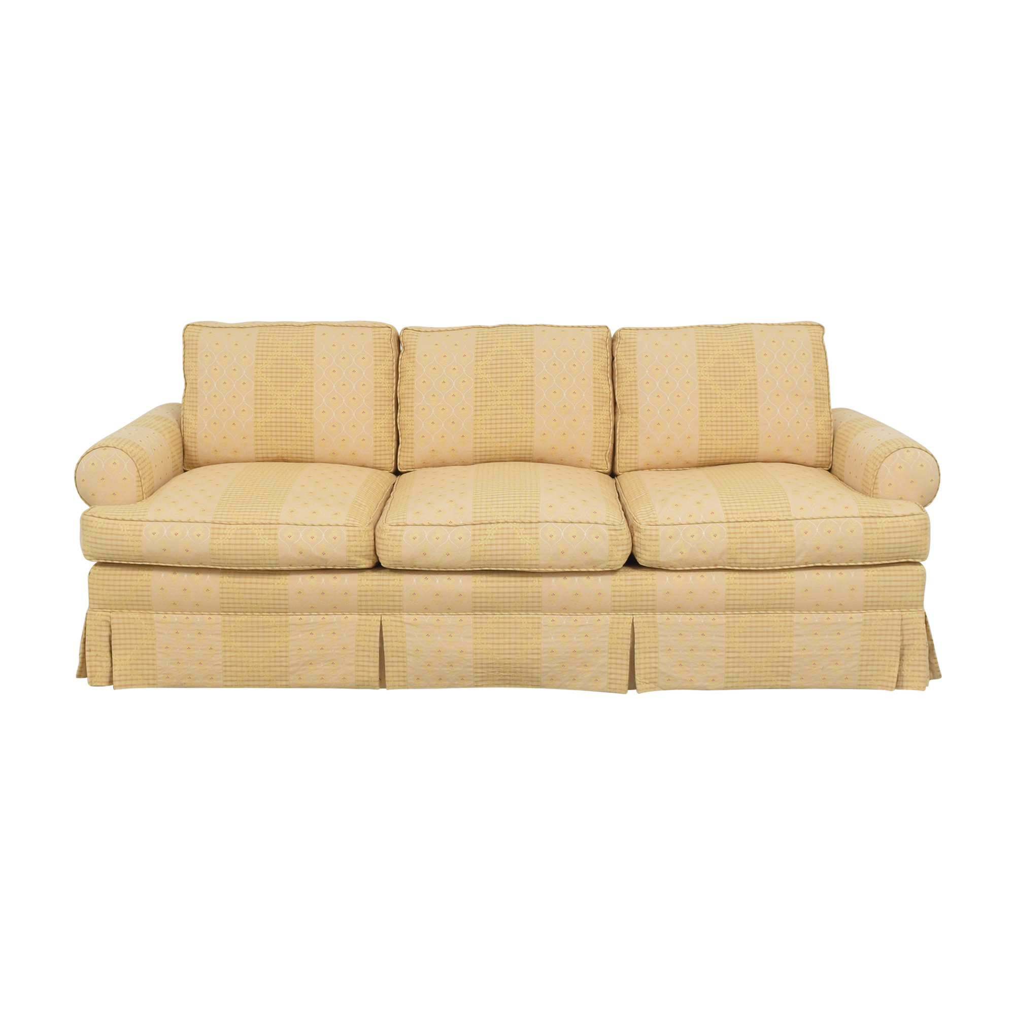 Pottery Barn Pottery Barn Skirted Roll Arm Sofa for sale