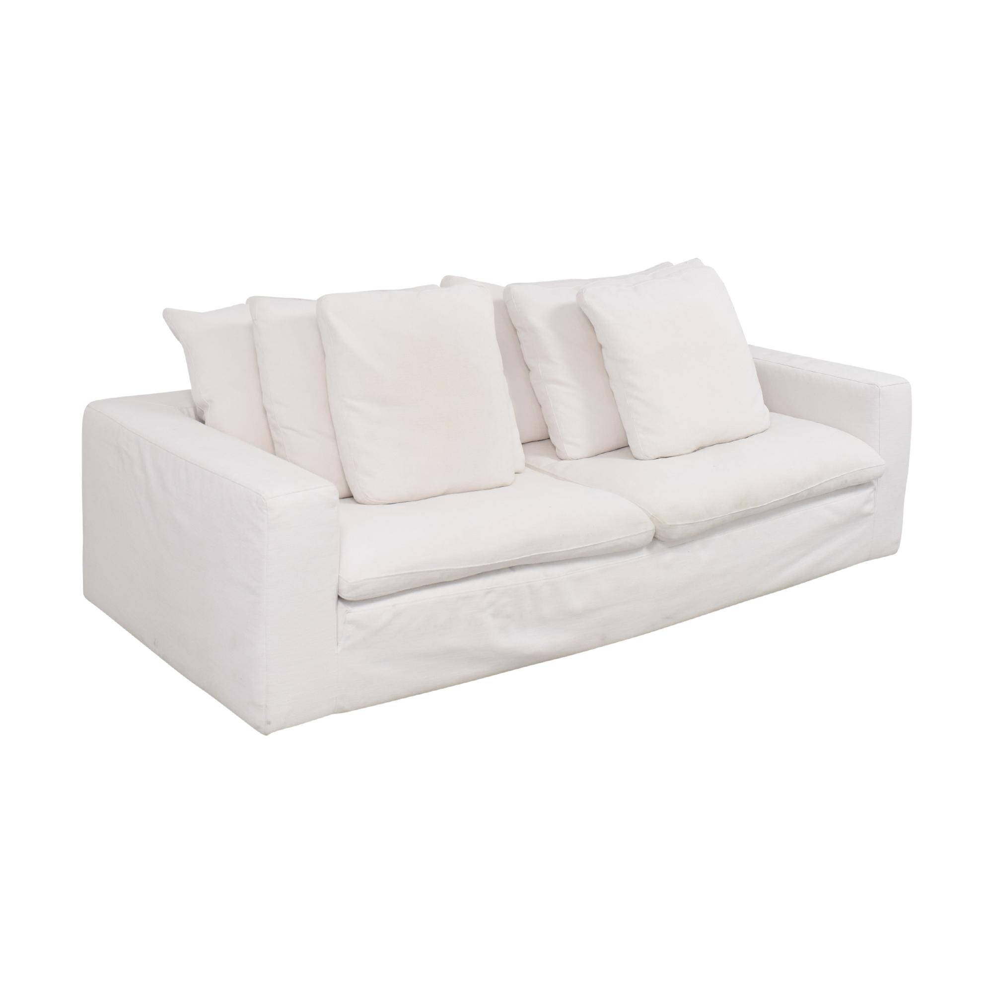 Restoration Hardware Restoration Hardware Cloud Two-Seat-Cushion Sofa white