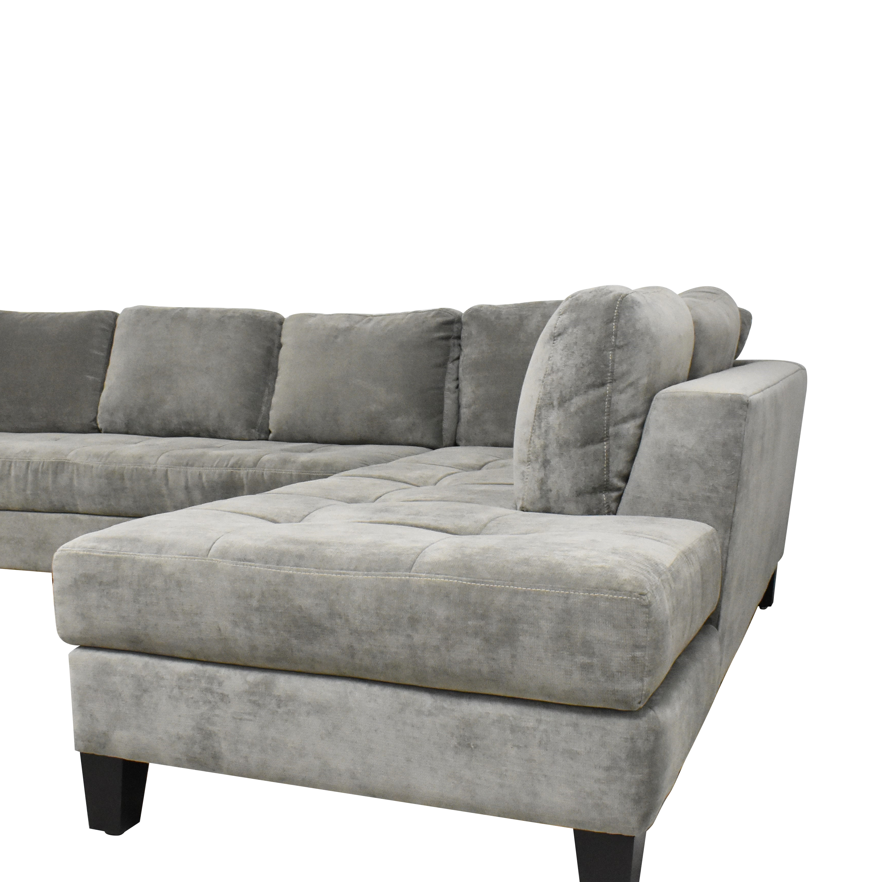 Macy's Tufted Chaise Sectional Sofa / Sofas