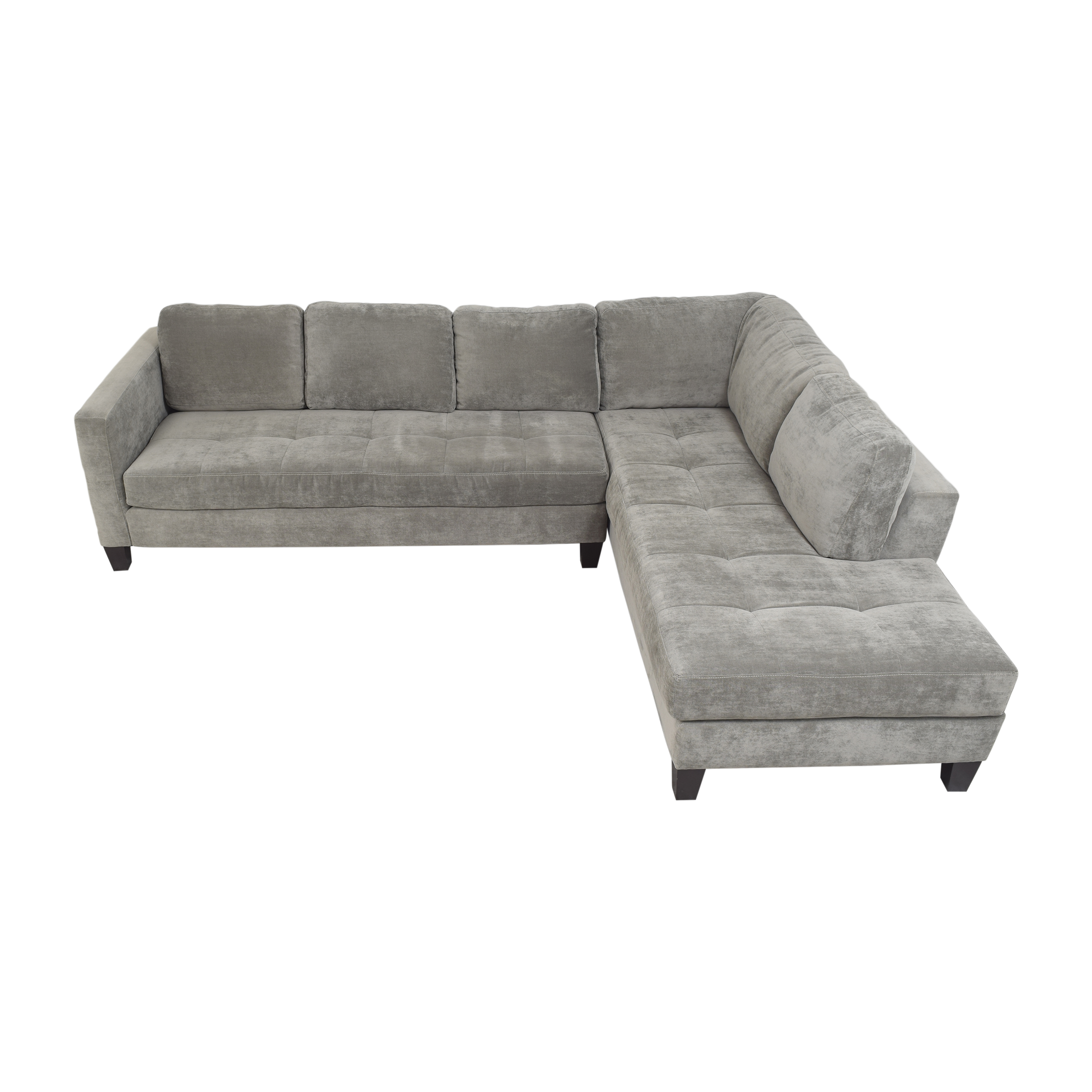 shop Macy's Tufted Chaise Sectional Sofa Macy's Sectionals