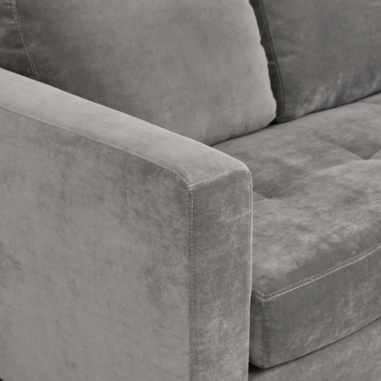 Macy's Macy's Tufted Chaise Sectional Sofa ma