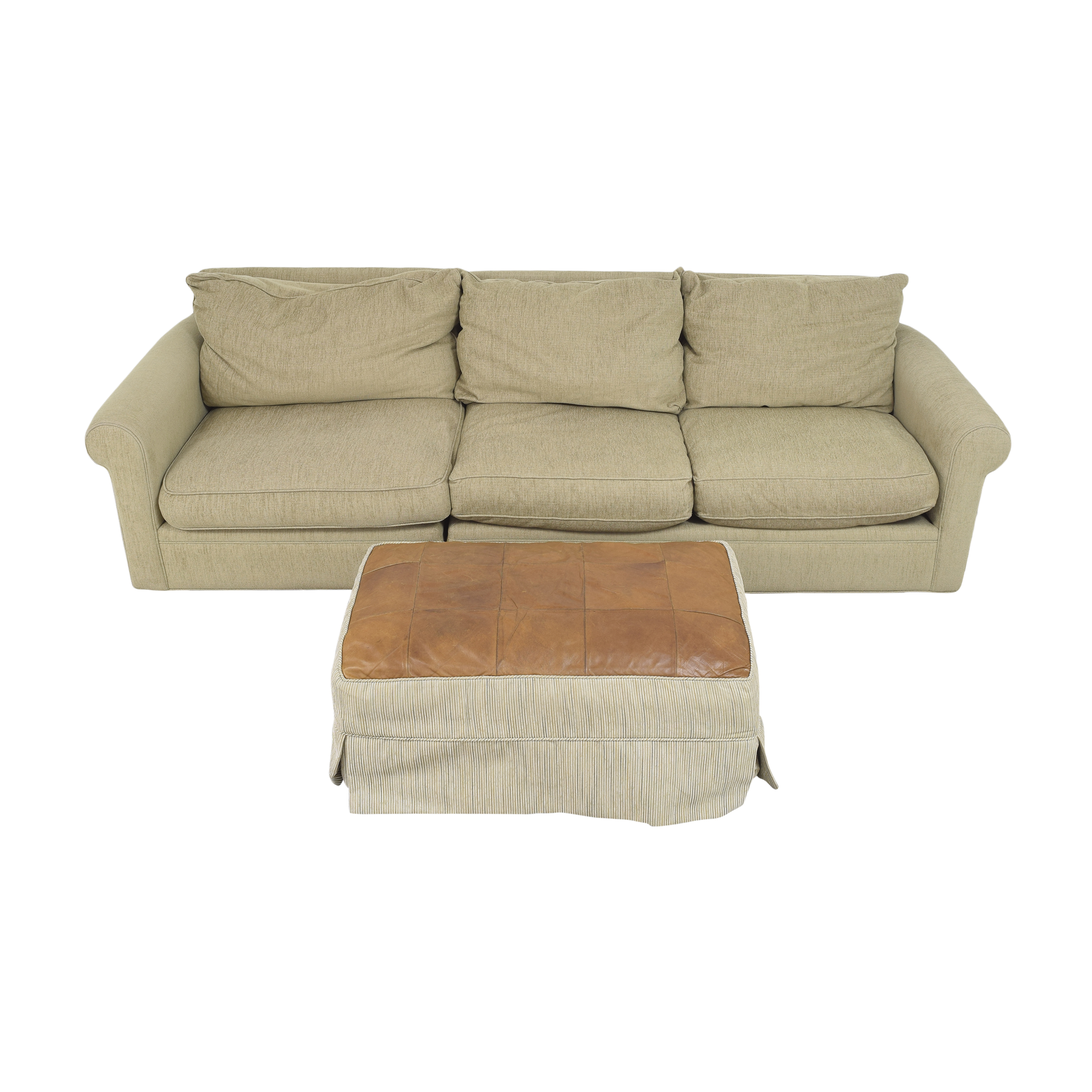 Macy's Macy's Modern Concepts Sofa with Ottoman second hand