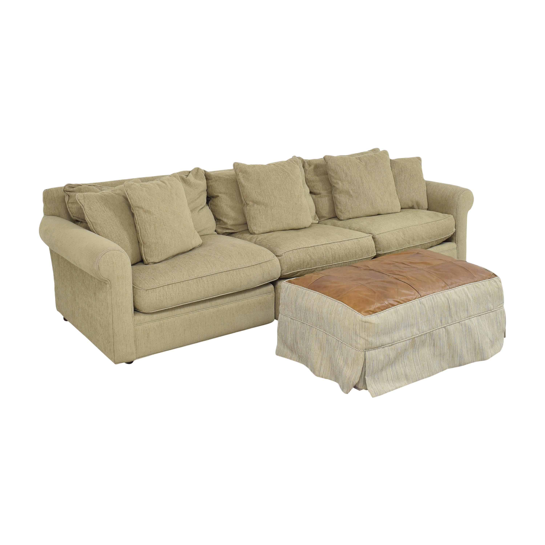 Macy's Macy's Modern Concepts Sofa with Ottoman nj