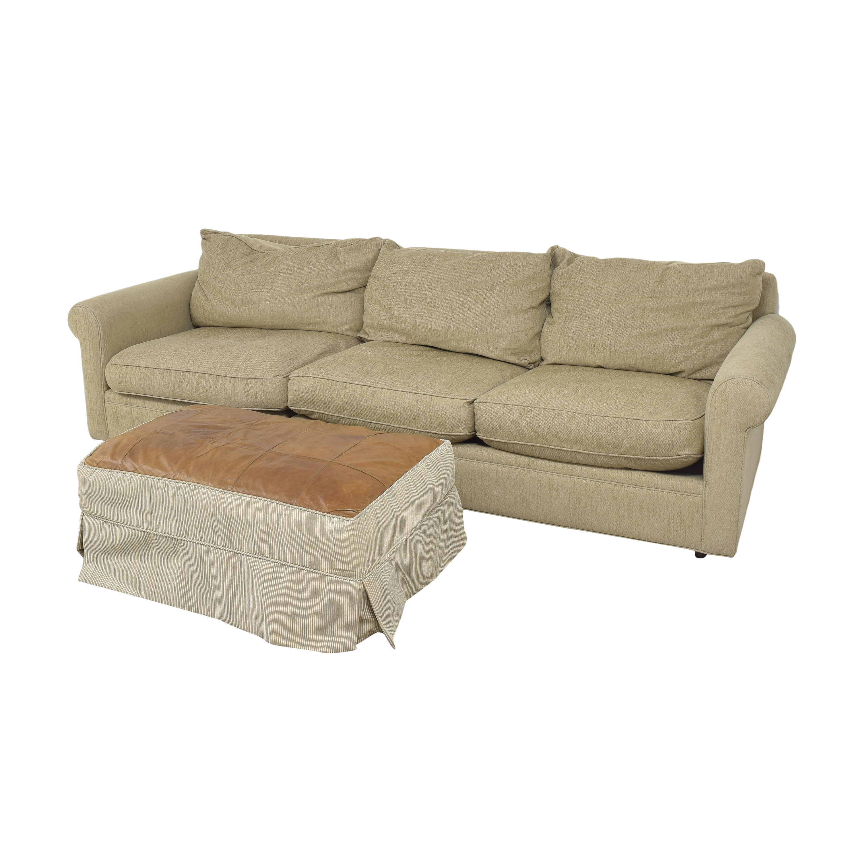 Macy's Macy's Modern Concepts Sofa with Ottoman for sale