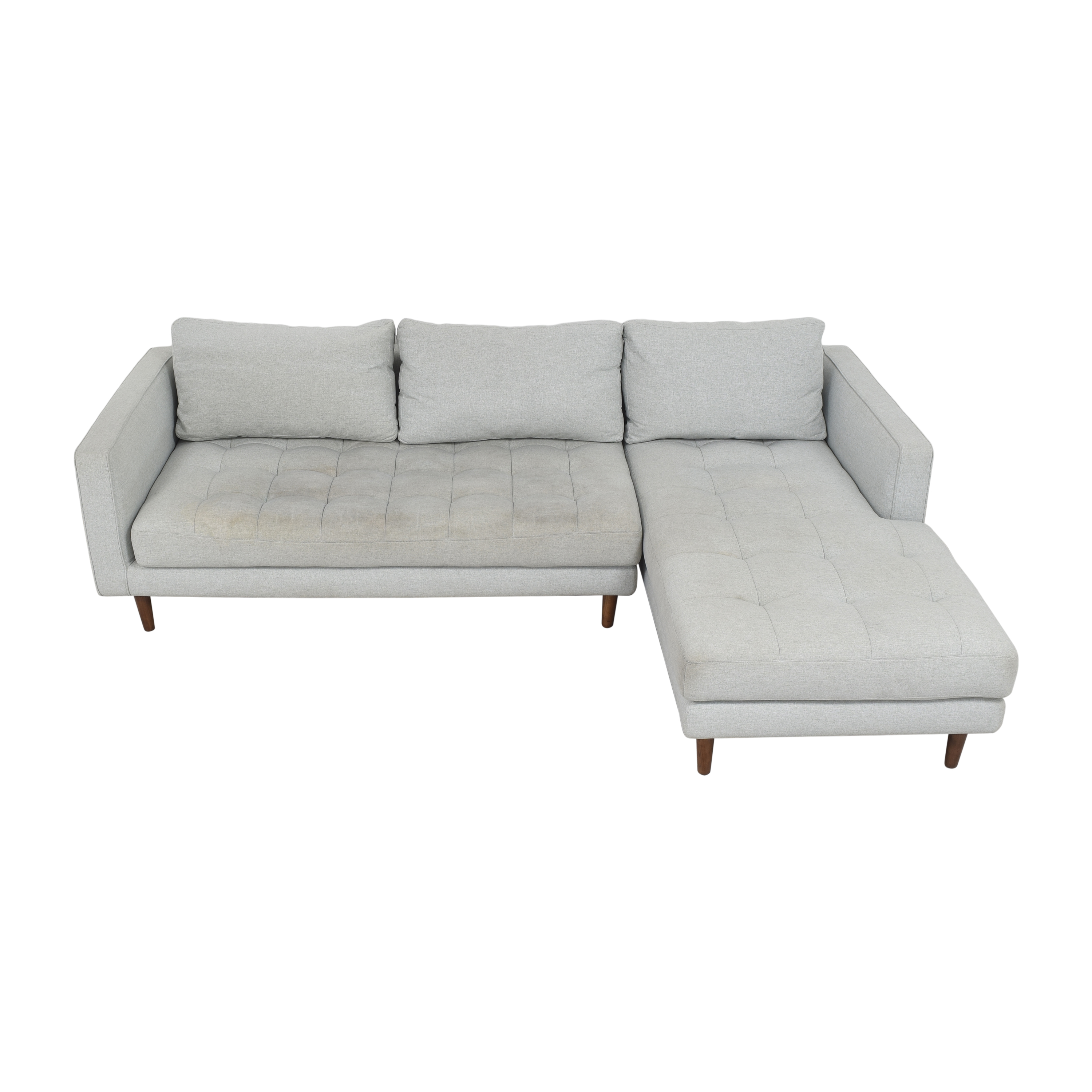 Rove Concepts Rove Concepts Luca Sectional Sofa with Chaise light gray