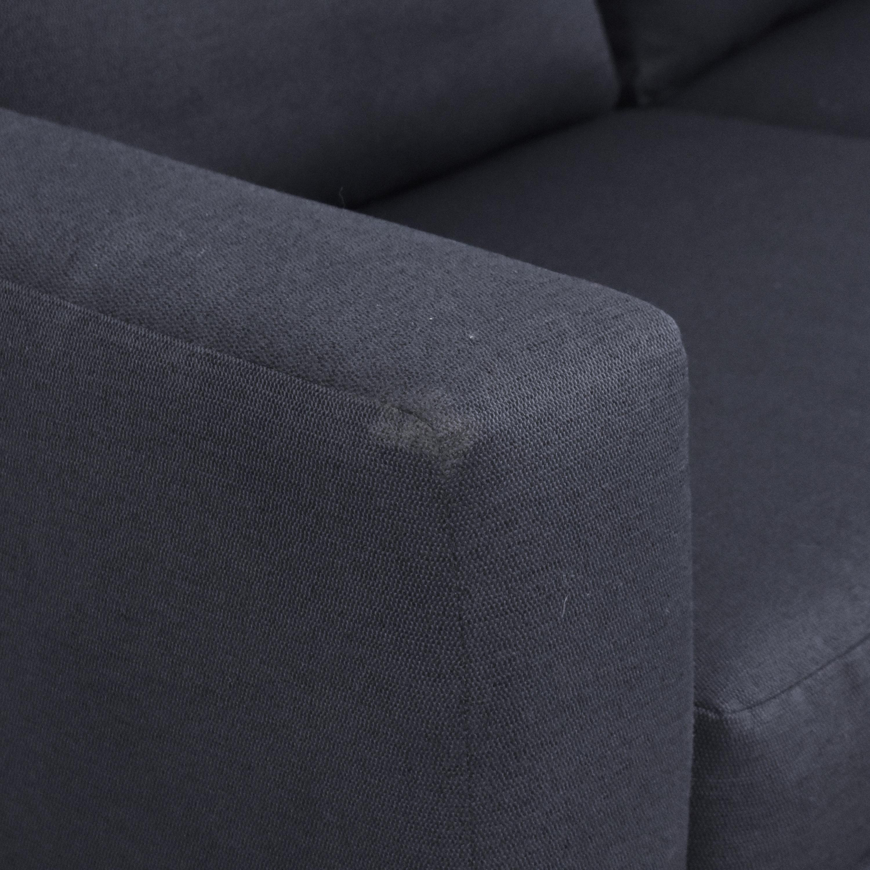 Two Cushion Track Arm Apartment Sofa Sofas