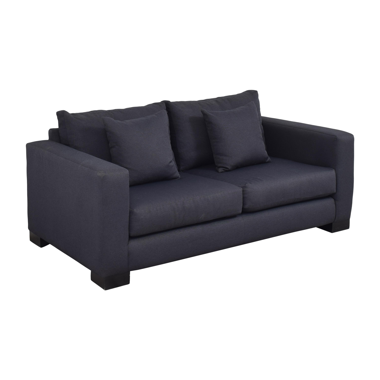 Two Cushion Track Arm Apartment Sofa nj
